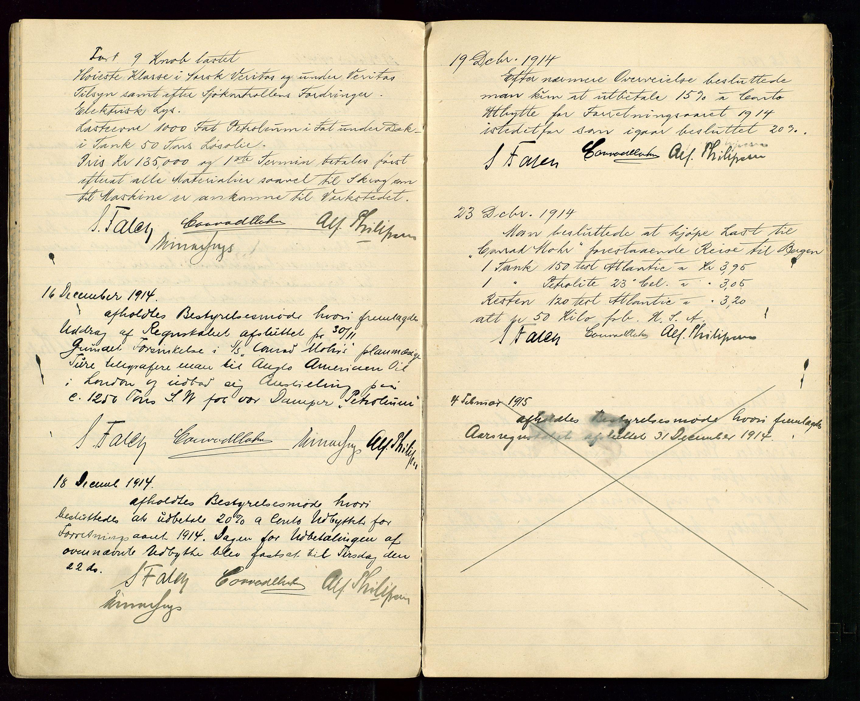 SAST, PA 1533 - A/S Vestlandske Petroleumscompani, A/Aa/L0001: Generalforsamlinger og styreprotokoller, 1907-1915, s. 54