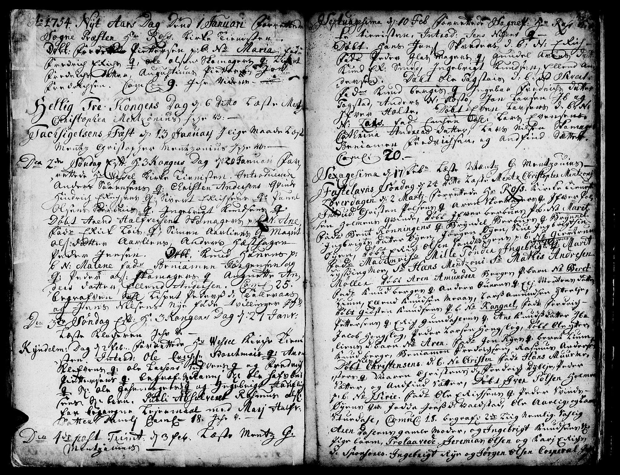 SAT, Ministerialprotokoller, klokkerbøker og fødselsregistre - Sør-Trøndelag, 671/L0839: Ministerialbok nr. 671A01, 1730-1755, s. 439-440