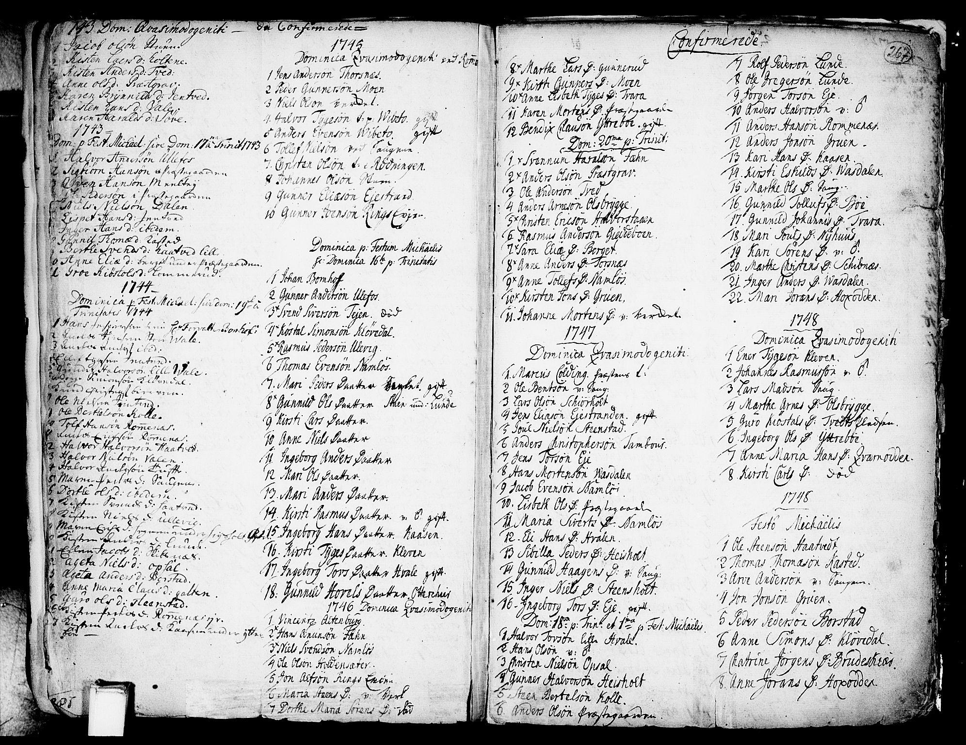 SAKO, Holla kirkebøker, F/Fa/L0001: Ministerialbok nr. 1, 1717-1779, s. 267