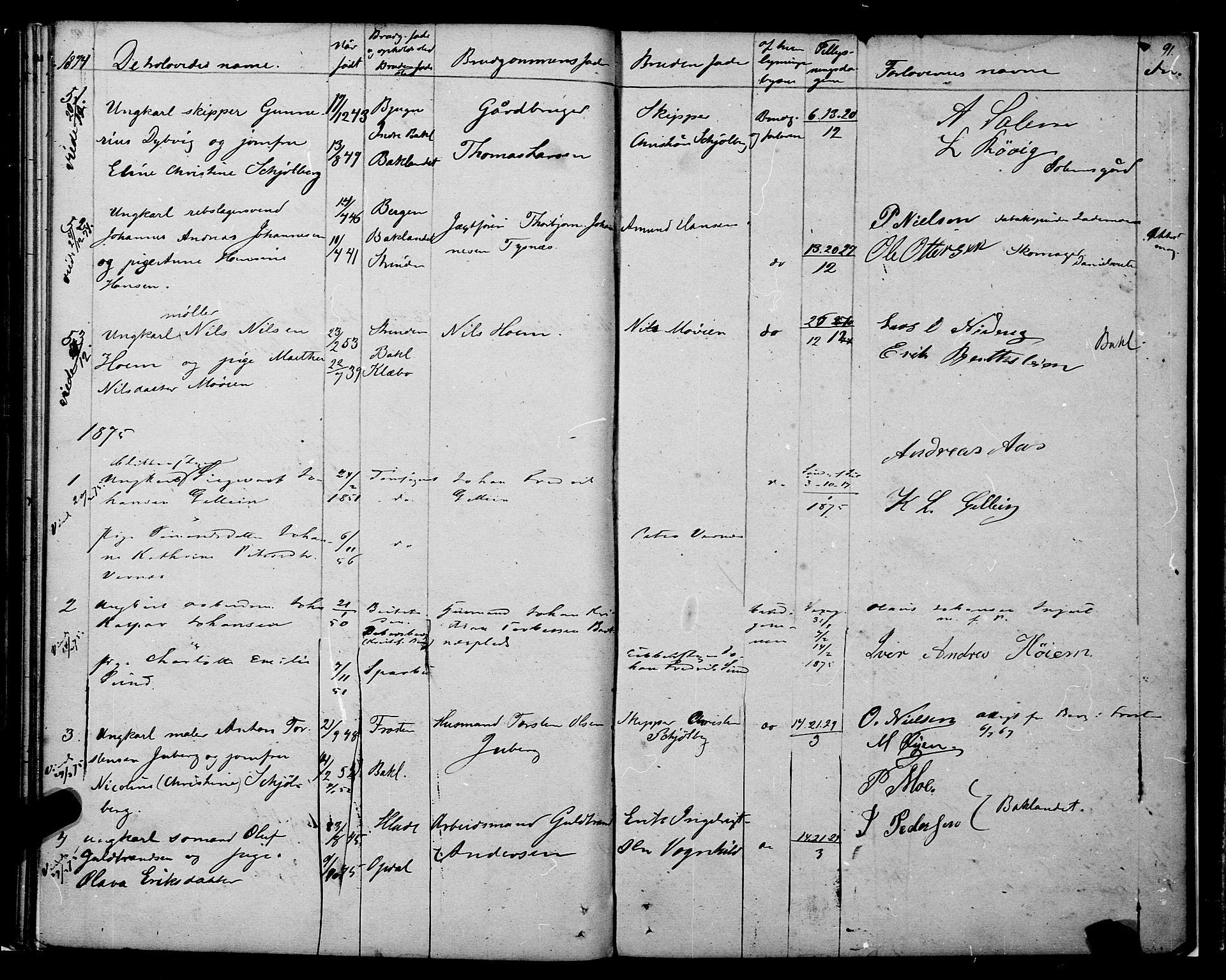 SAT, Ministerialprotokoller, klokkerbøker og fødselsregistre - Sør-Trøndelag, 604/L0187: Ministerialbok nr. 604A08, 1847-1878, s. 91