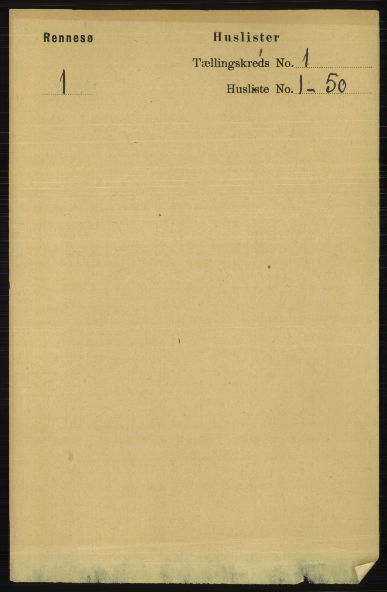 RA, Folketelling 1891 for 1142 Rennesøy herred, 1891, s. 11