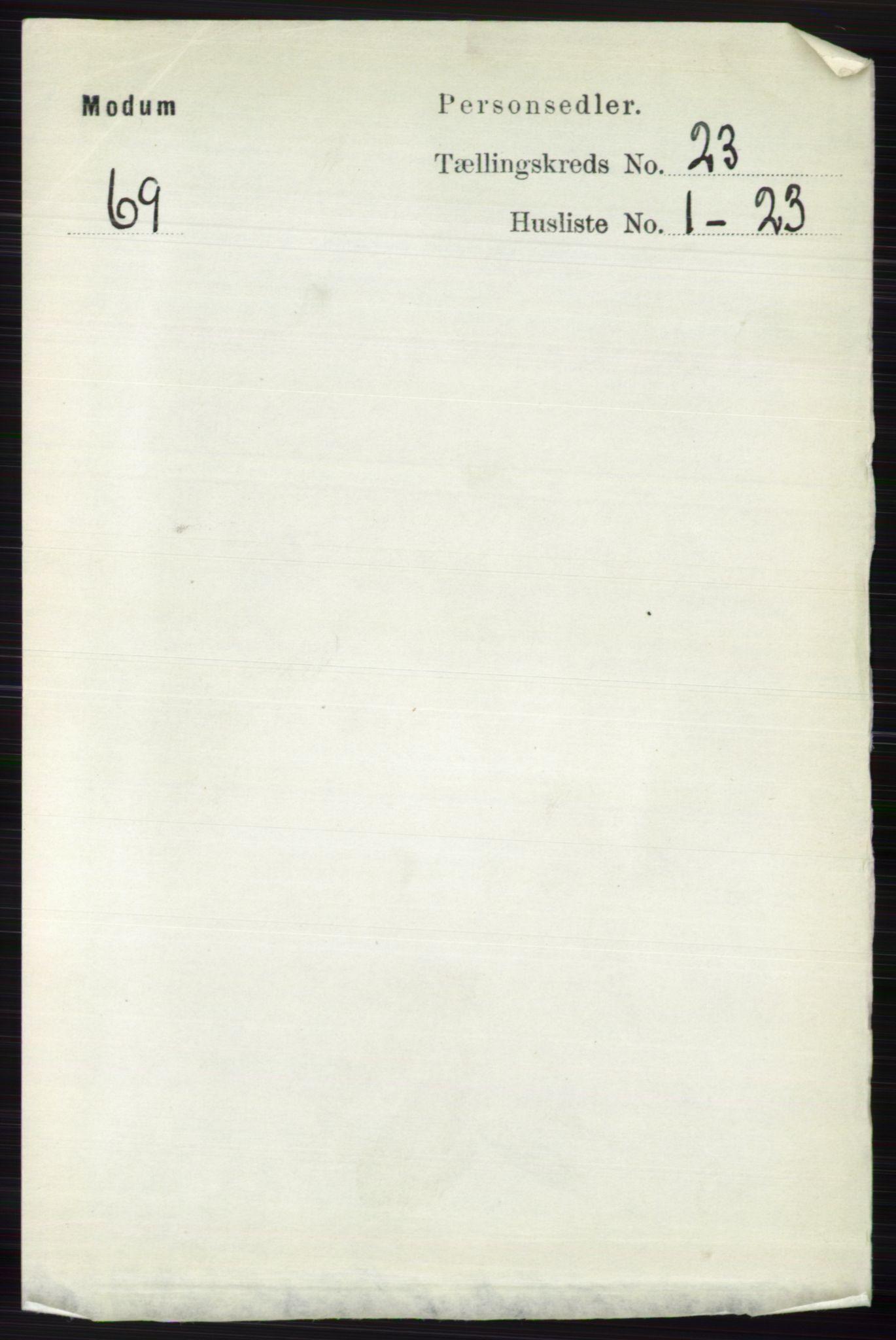 RA, Folketelling 1891 for 0623 Modum herred, 1891, s. 8692