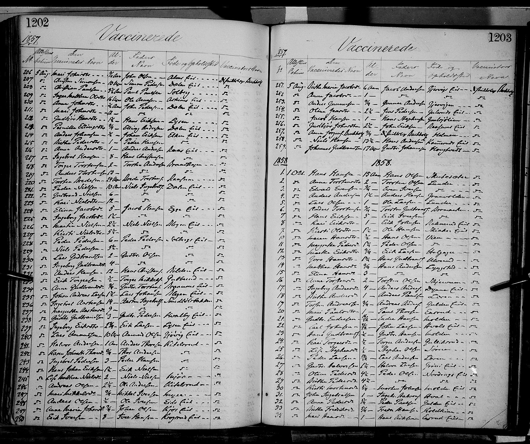 SAH, Gran prestekontor, Ministerialbok nr. 12, 1856-1874, s. 1202-1203