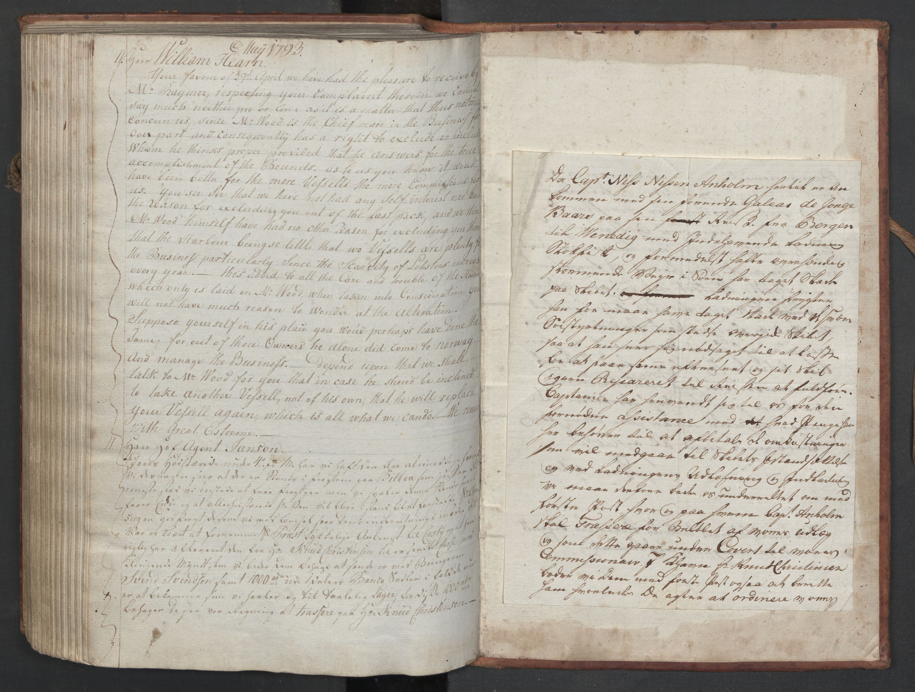 SAST, Pa 0003 - Ploug & Sundt, handelshuset, B/L0006: Kopibok, 1788-1793, s. 288b-upag.