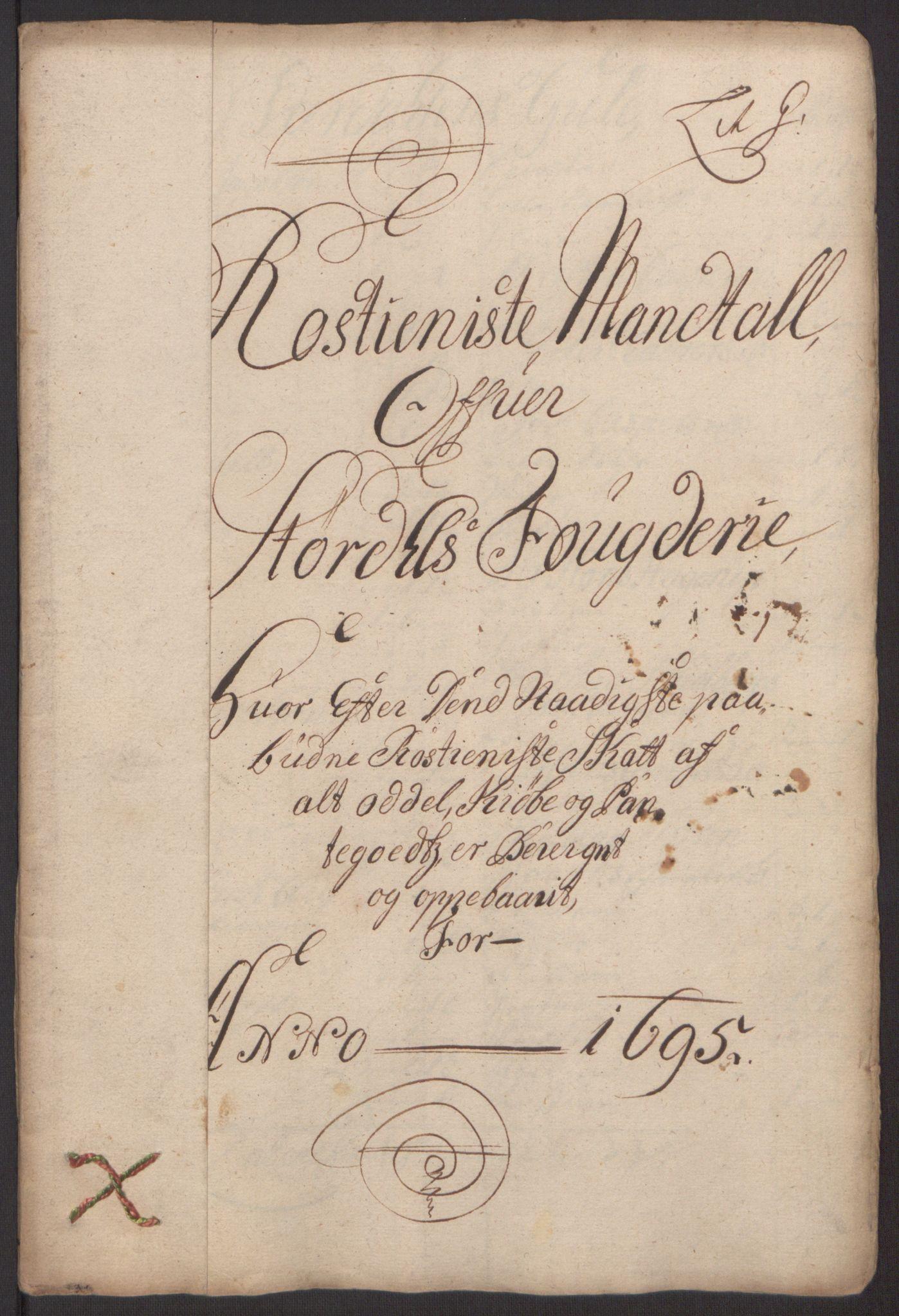 RA, Rentekammeret inntil 1814, Reviderte regnskaper, Fogderegnskap, R62/L4187: Fogderegnskap Stjørdal og Verdal, 1695, s. 107