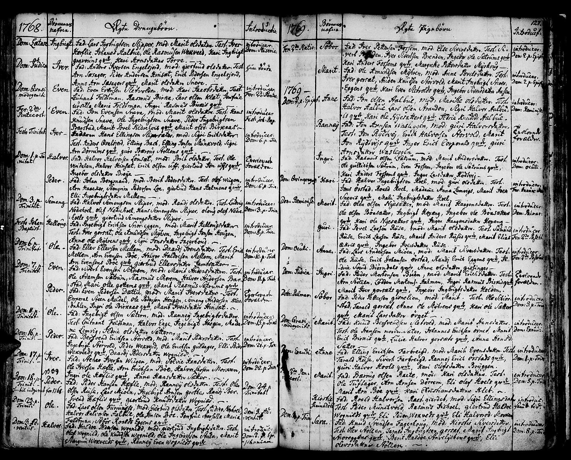 SAT, Ministerialprotokoller, klokkerbøker og fødselsregistre - Sør-Trøndelag, 678/L0891: Ministerialbok nr. 678A01, 1739-1780, s. 127