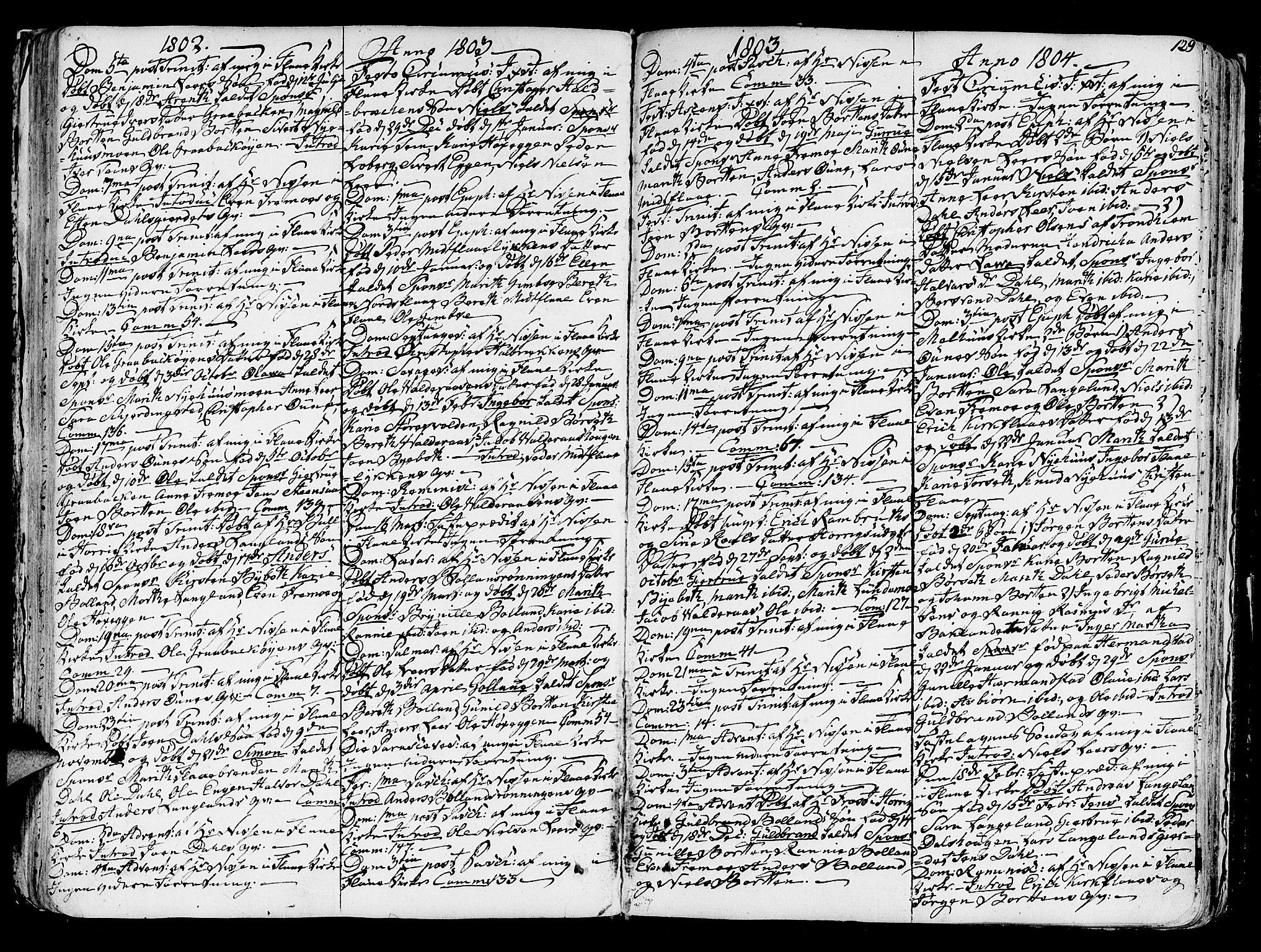 SAT, Ministerialprotokoller, klokkerbøker og fødselsregistre - Sør-Trøndelag, 691/L1062: Ministerialbok nr. 691A02 /2, 1768-1815, s. 129