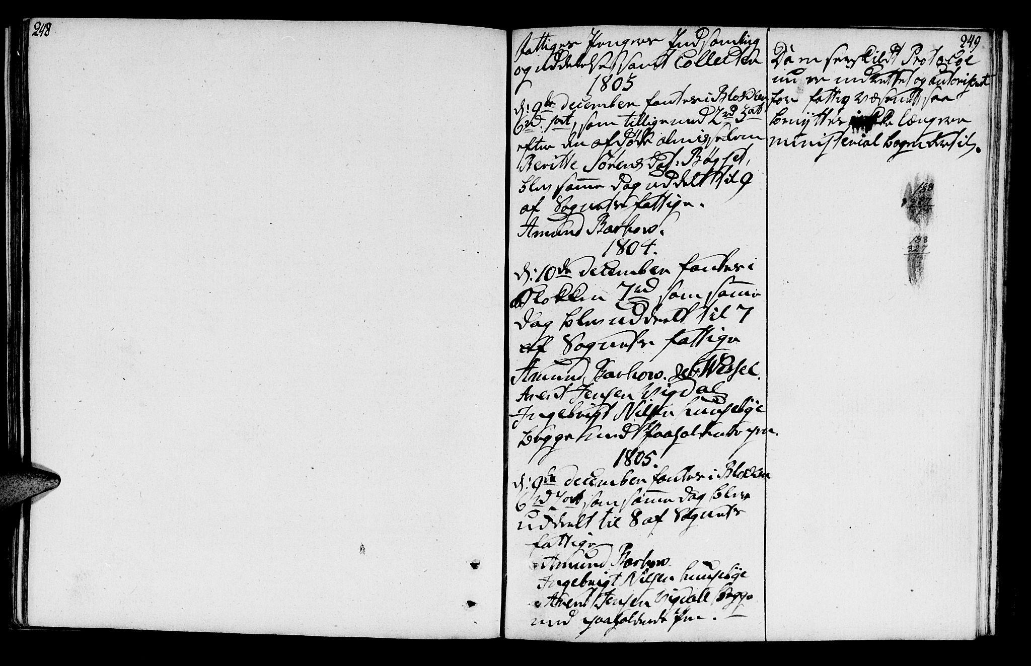 SAT, Ministerialprotokoller, klokkerbøker og fødselsregistre - Sør-Trøndelag, 666/L0785: Ministerialbok nr. 666A03, 1803-1816, s. 248-249