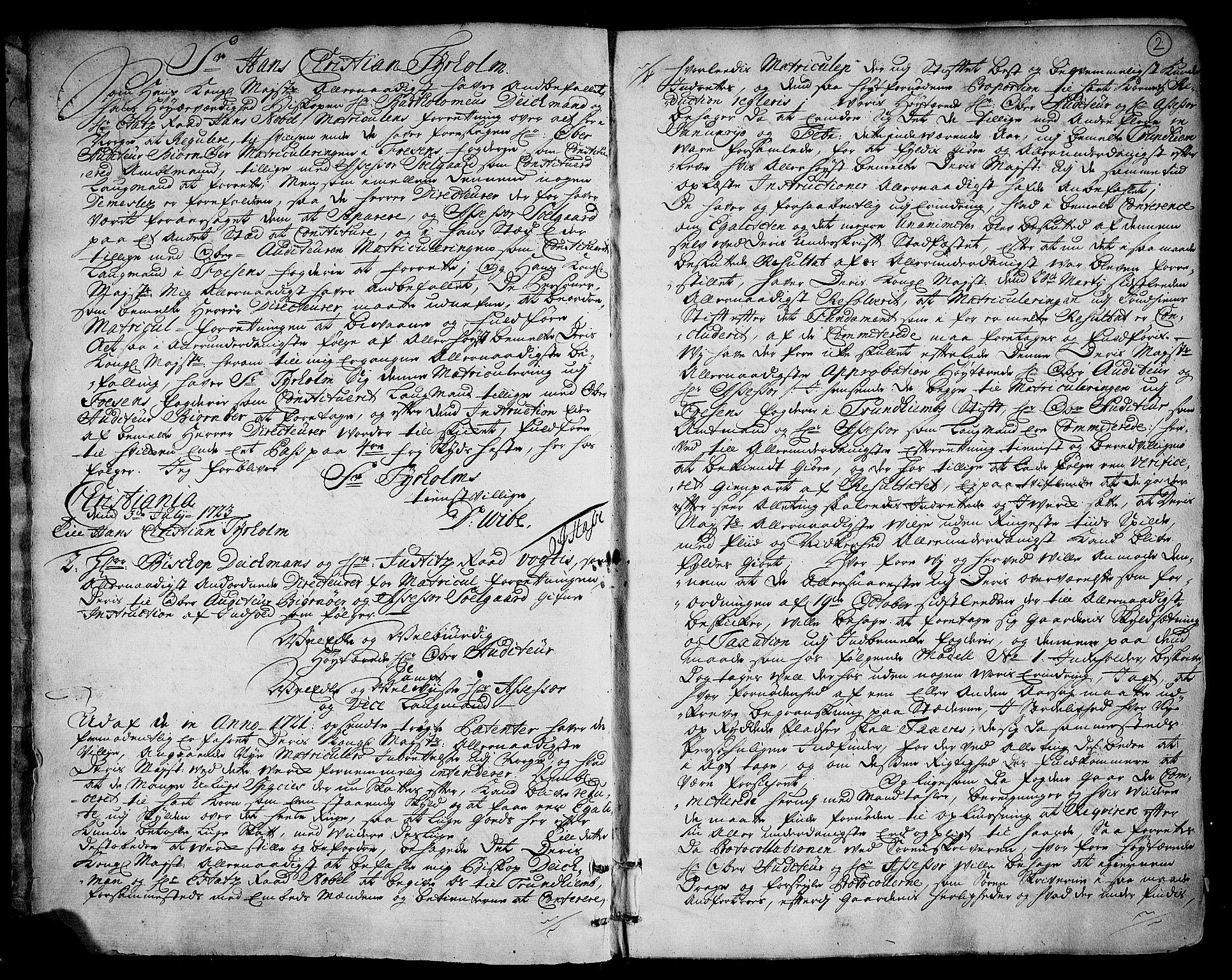 RA, Rentekammeret inntil 1814, Realistisk ordnet avdeling, N/Nb/Nbf/L0162: Fosen eksaminasjonsprotokoll, 1723, s. 1b-2a