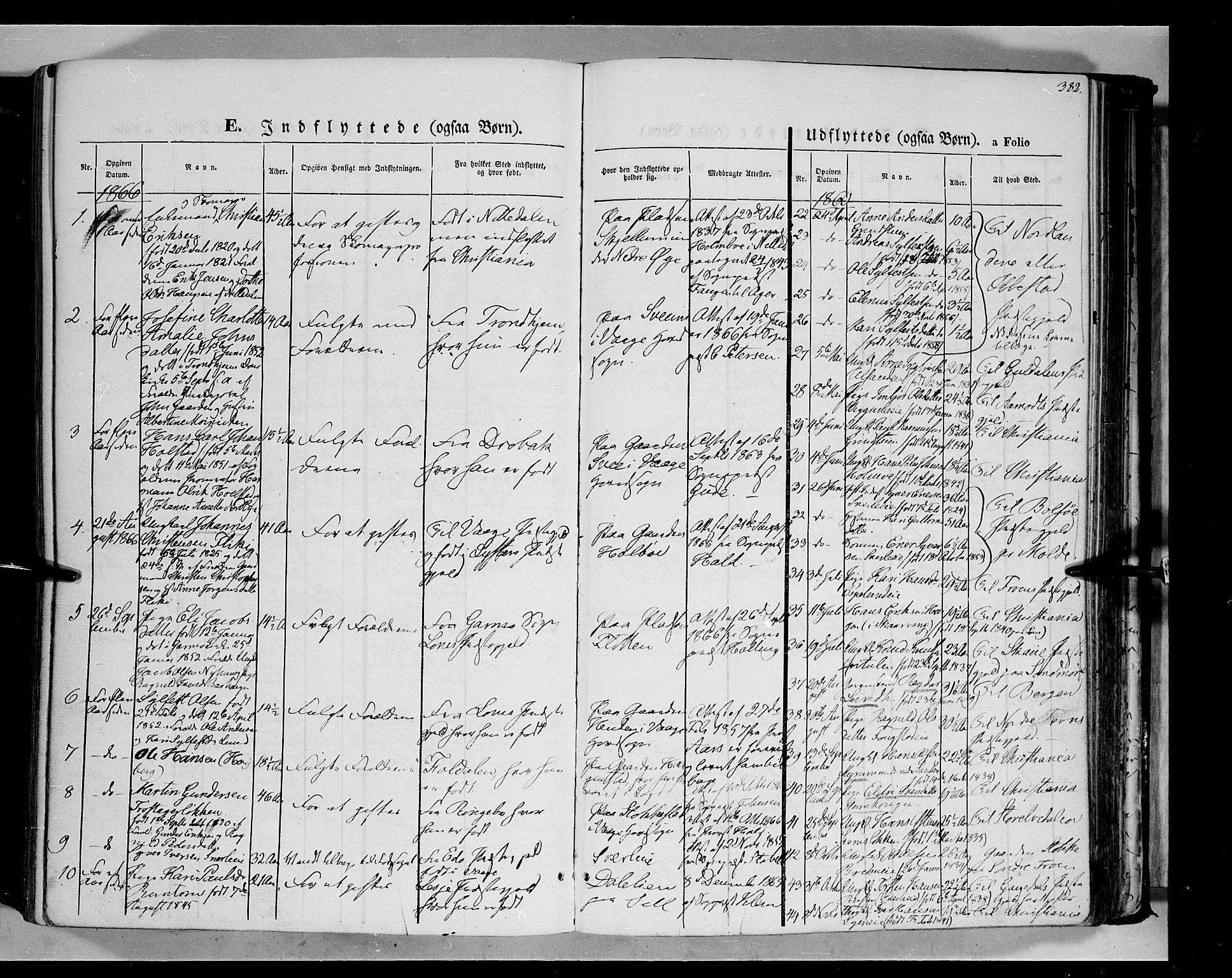 SAH, Vågå prestekontor, Ministerialbok nr. 6 /1, 1856-1872, s. 382
