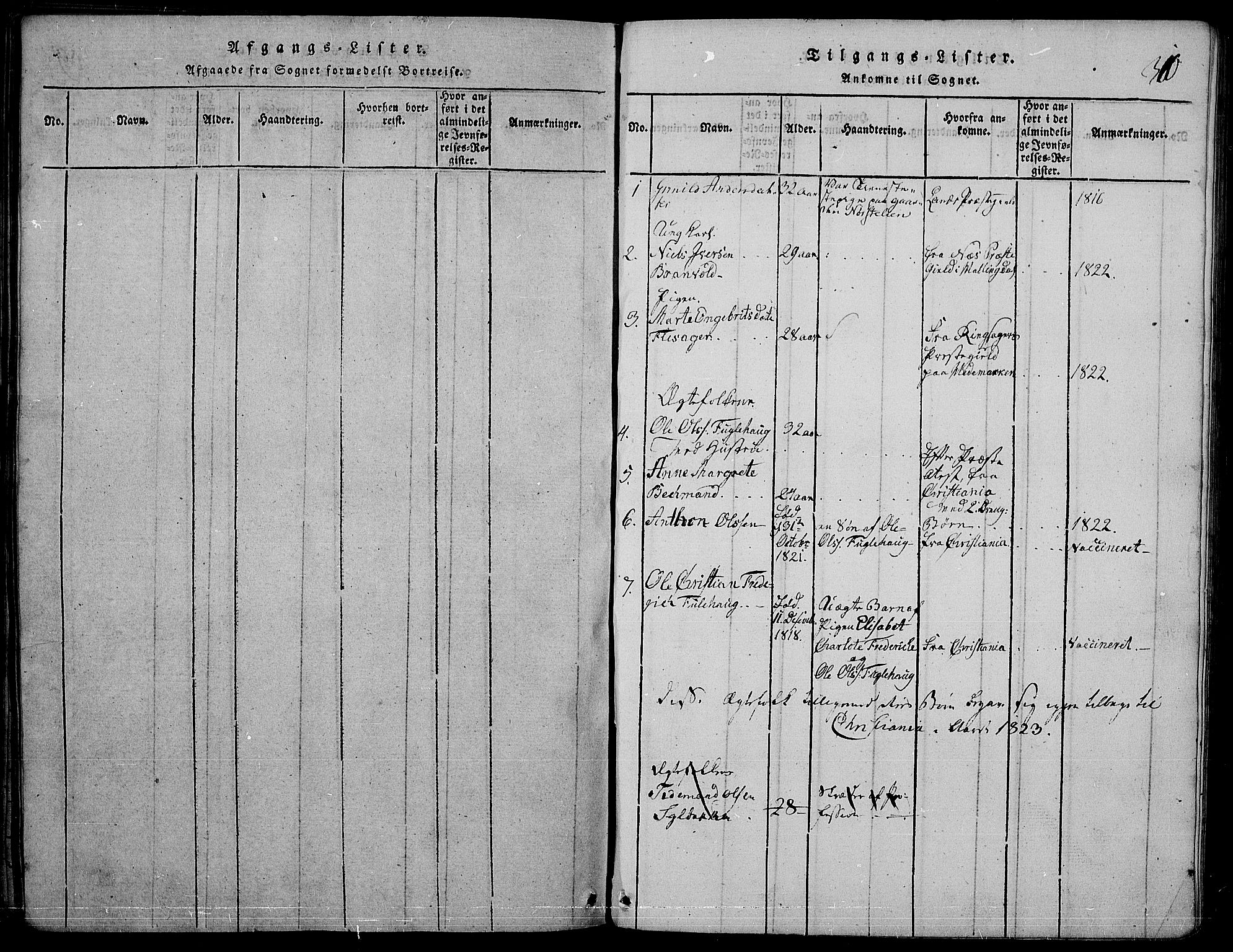 SAH, Nord-Aurdal prestekontor, Ministerialbok nr. 2, 1816-1828, s. 310