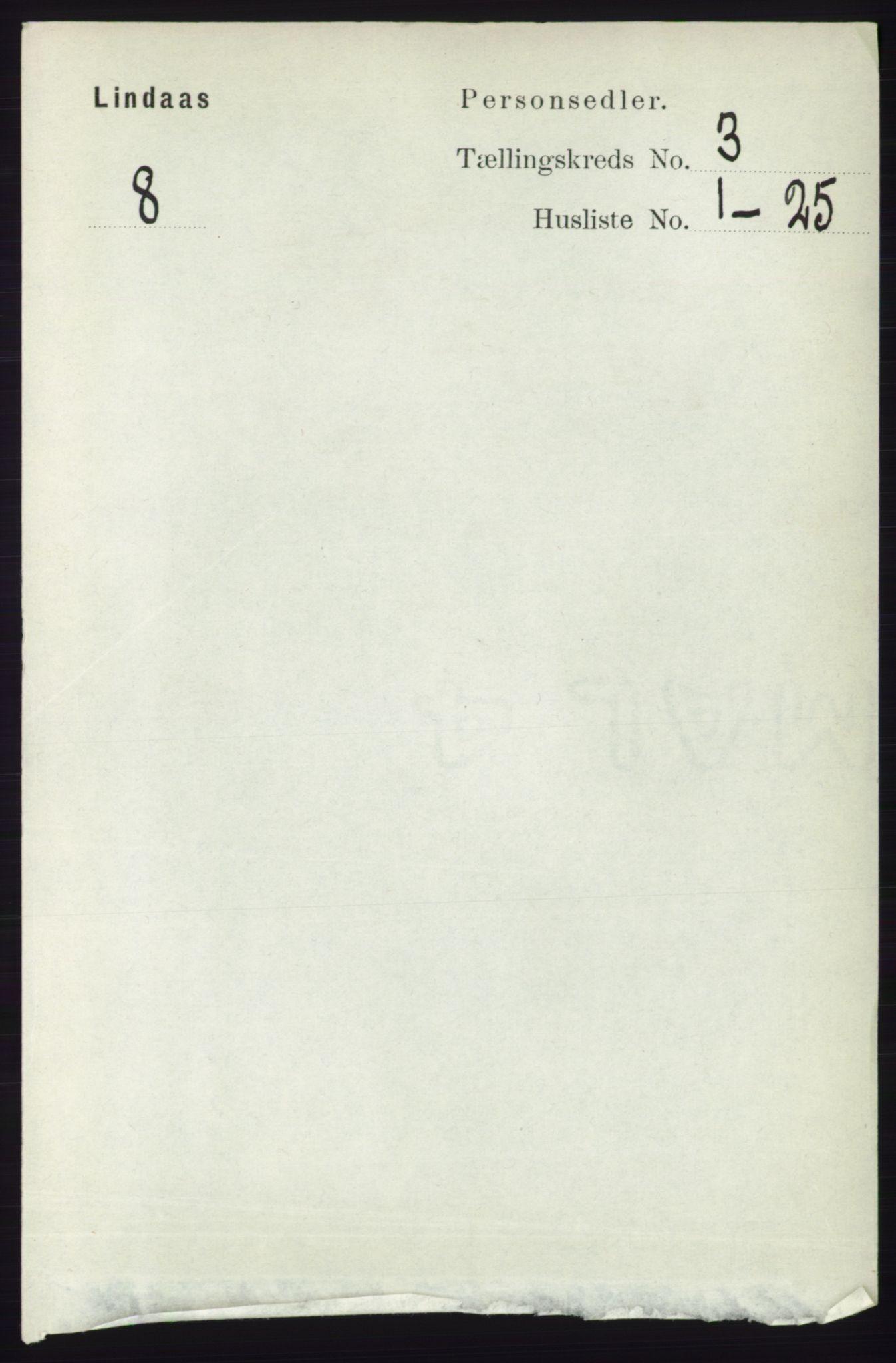 RA, Folketelling 1891 for 1263 Lindås herred, 1891, s. 804