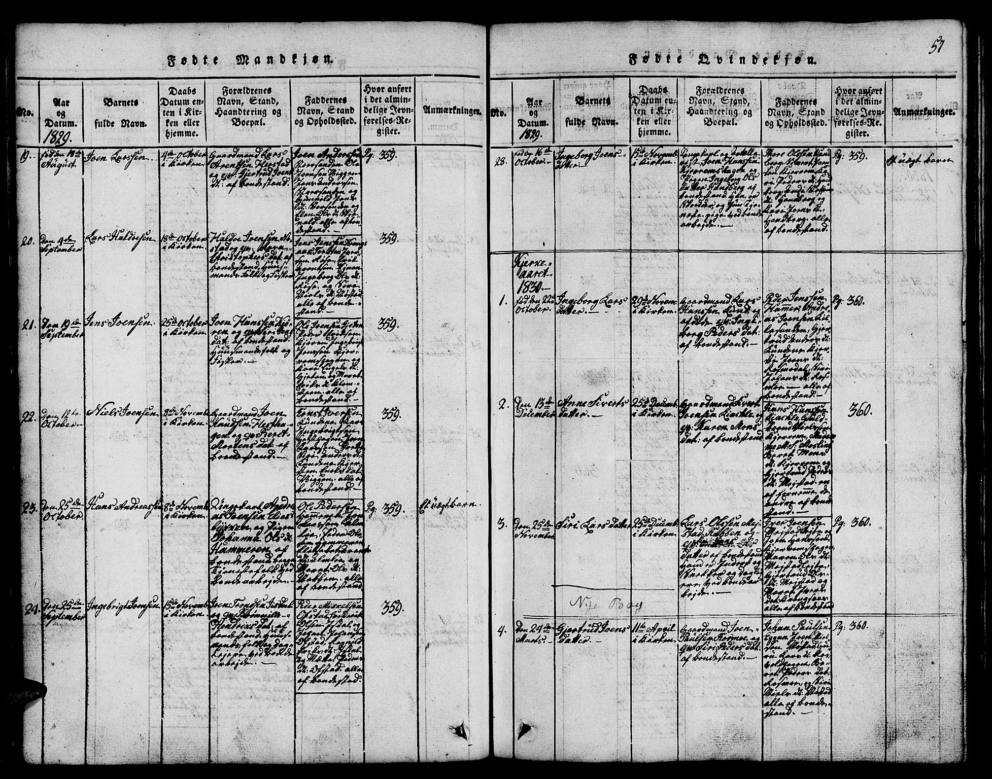 SAT, Ministerialprotokoller, klokkerbøker og fødselsregistre - Sør-Trøndelag, 665/L0776: Klokkerbok nr. 665C01, 1817-1837, s. 57