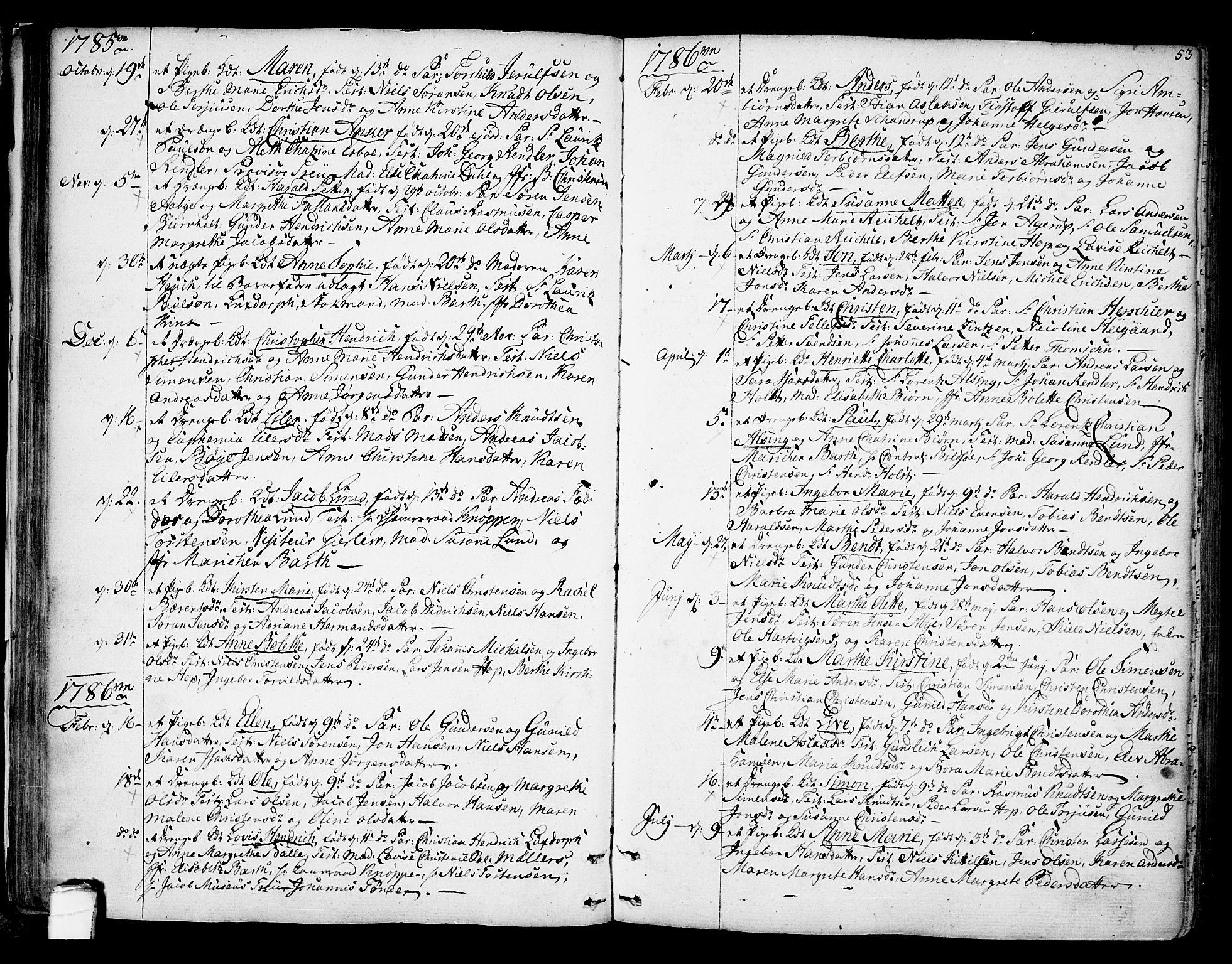 SAKO, Kragerø kirkebøker, F/Fa/L0002: Ministerialbok nr. 2, 1767-1802, s. 53