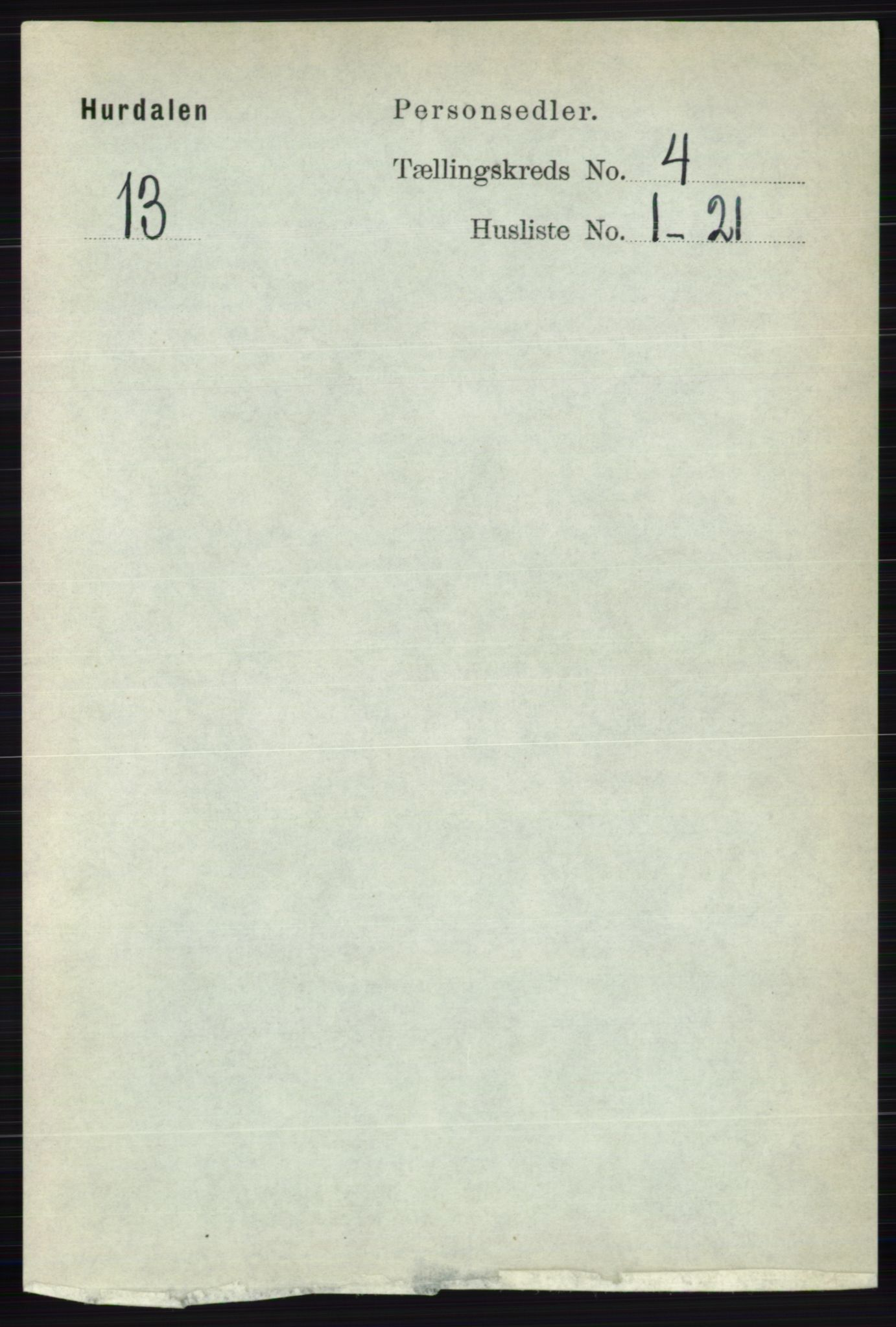 RA, Folketelling 1891 for 0239 Hurdal herred, 1891, s. 1428