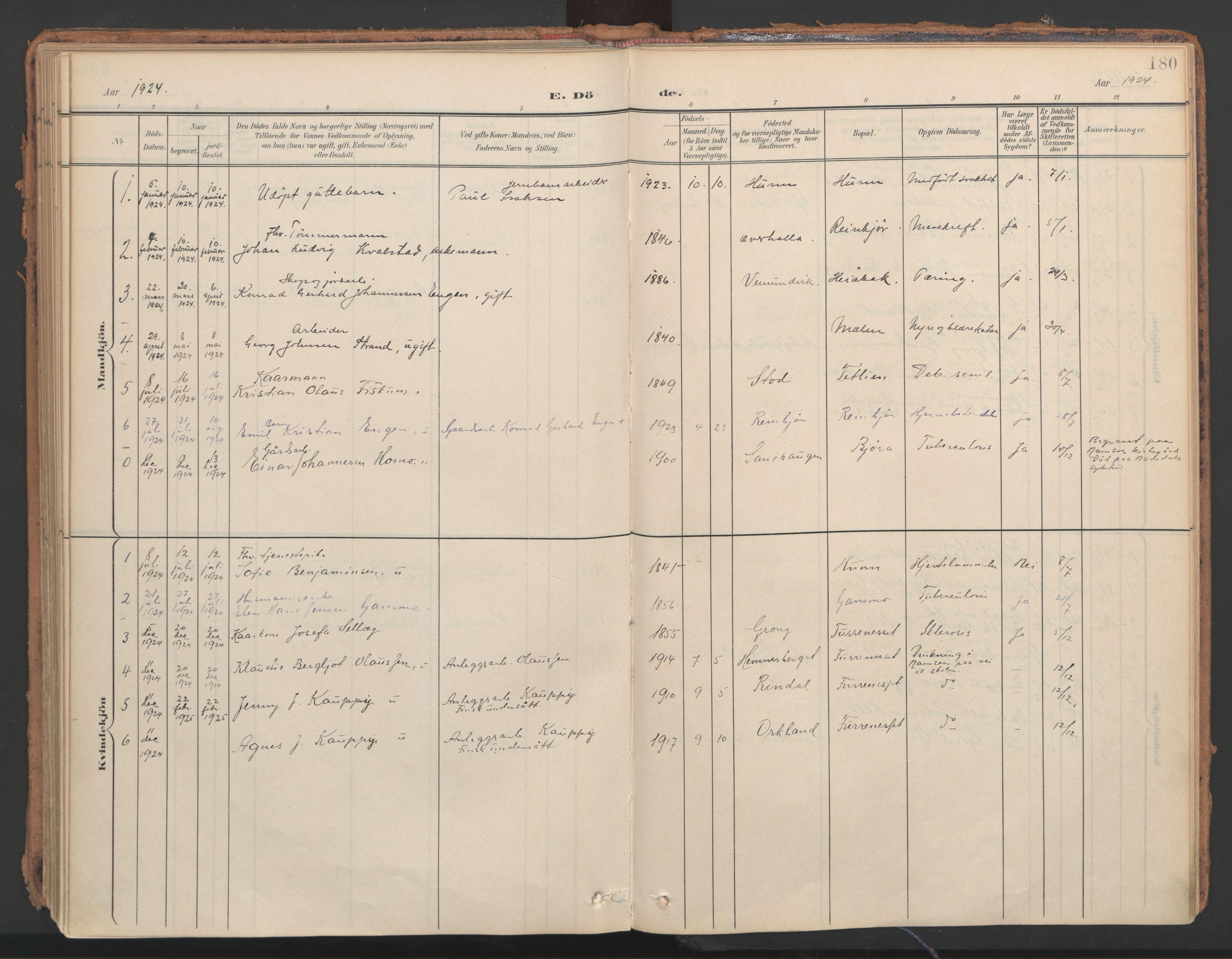 SAT, Ministerialprotokoller, klokkerbøker og fødselsregistre - Nord-Trøndelag, 766/L0564: Ministerialbok nr. 767A02, 1900-1932, s. 180