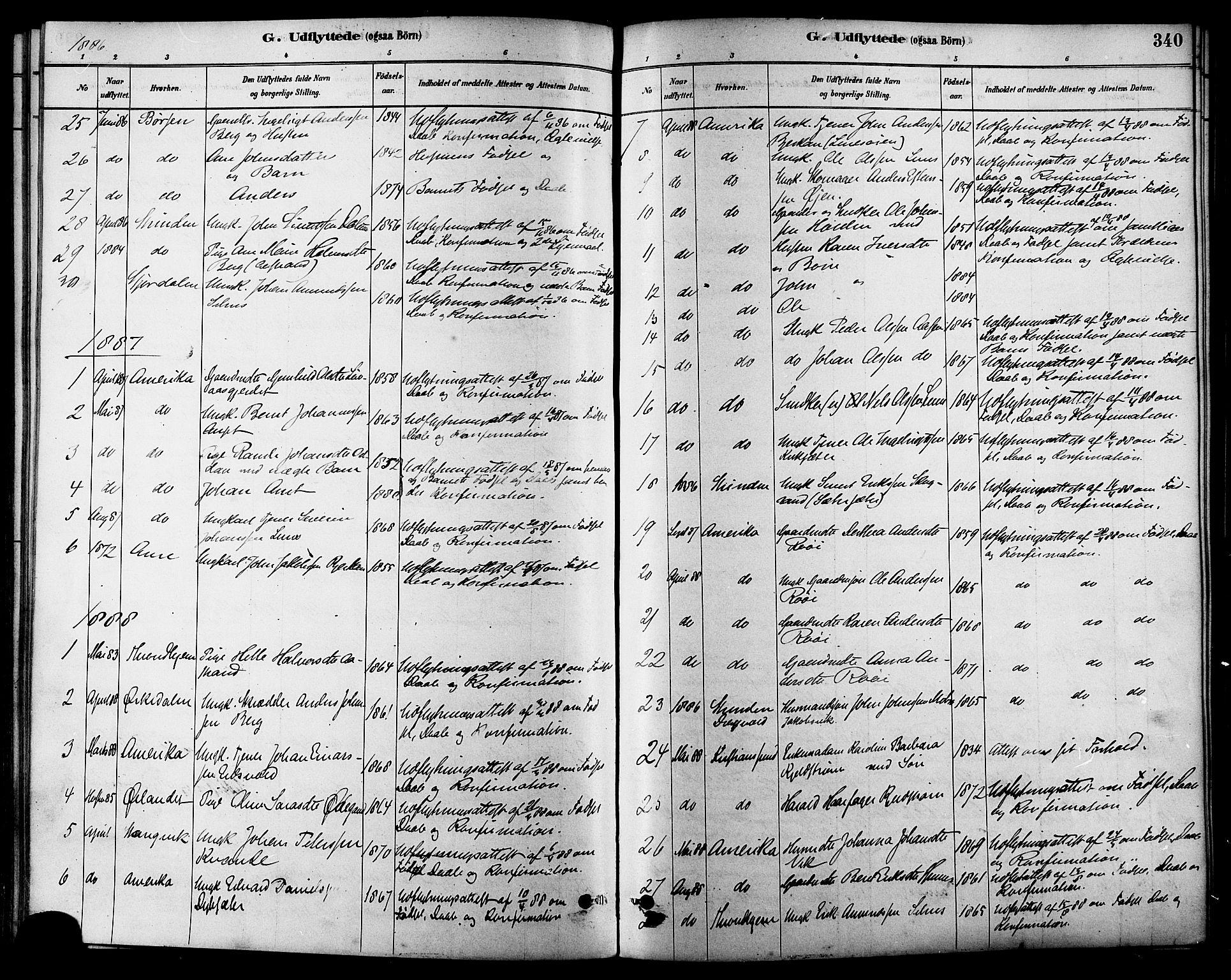 SAT, Ministerialprotokoller, klokkerbøker og fødselsregistre - Sør-Trøndelag, 630/L0496: Ministerialbok nr. 630A09, 1879-1895, s. 340