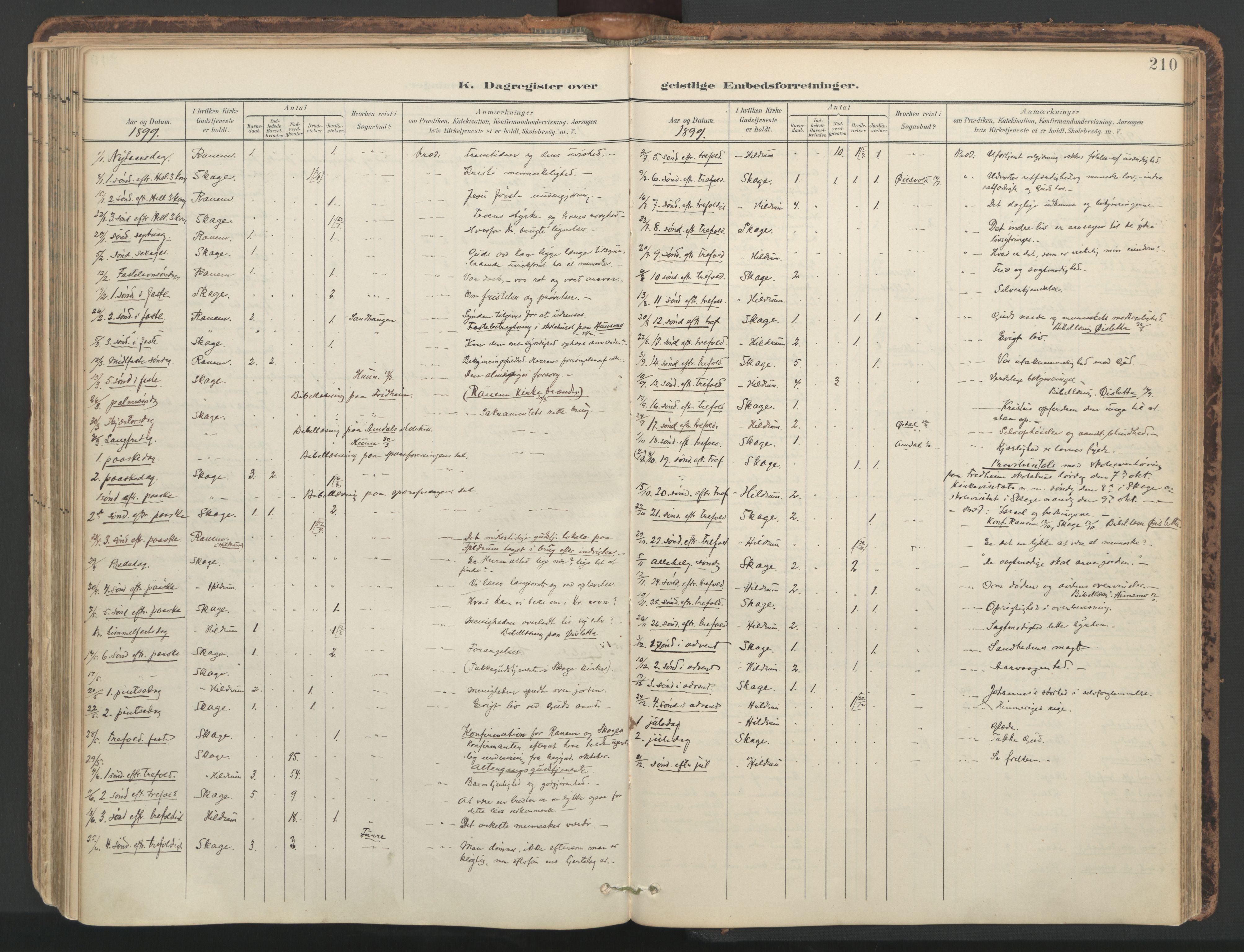 SAT, Ministerialprotokoller, klokkerbøker og fødselsregistre - Nord-Trøndelag, 764/L0556: Ministerialbok nr. 764A11, 1897-1924, s. 210