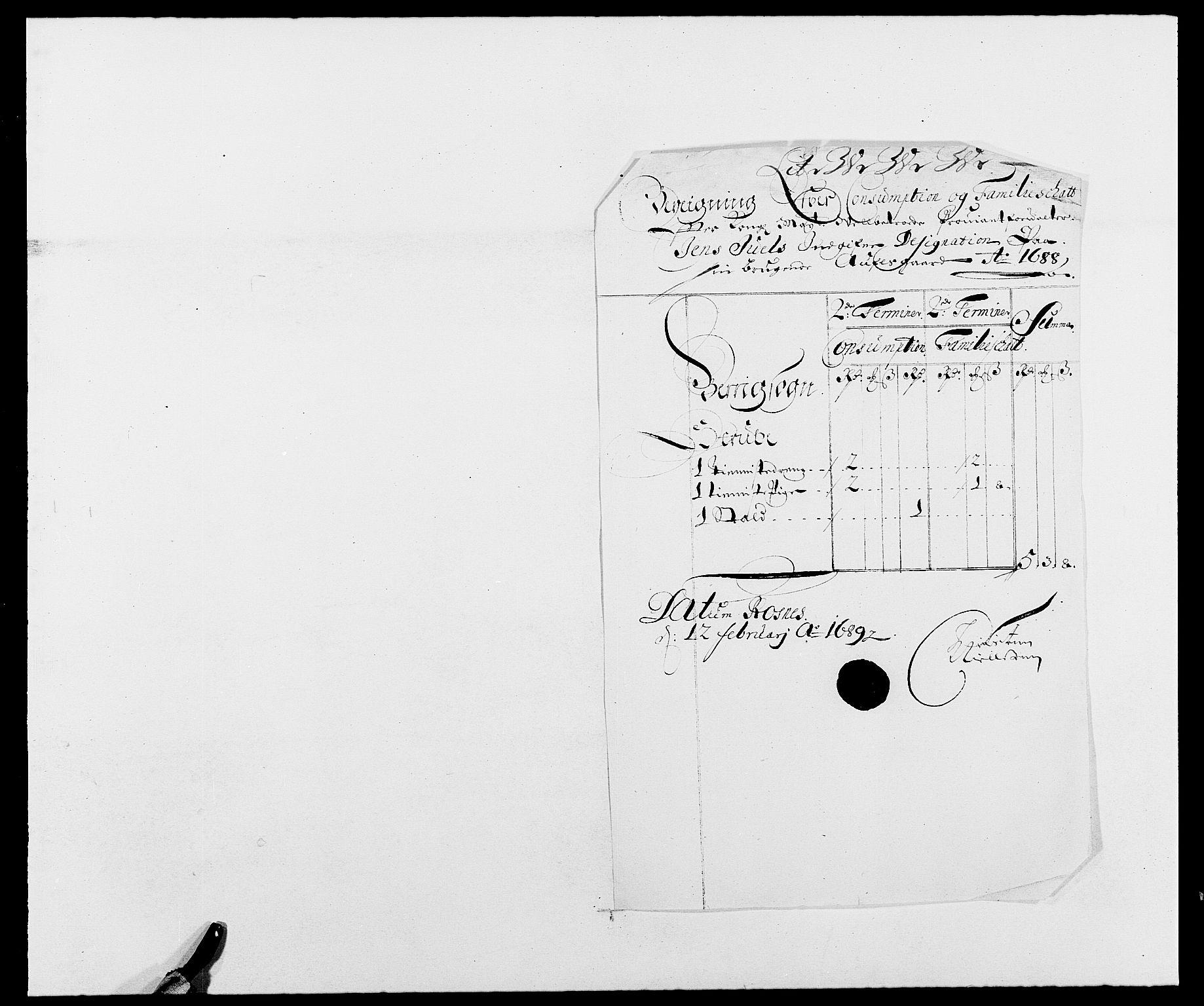 RA, Rentekammeret inntil 1814, Reviderte regnskaper, Fogderegnskap, R01/L0007: Fogderegnskap Idd og Marker, 1687-1688, s. 349