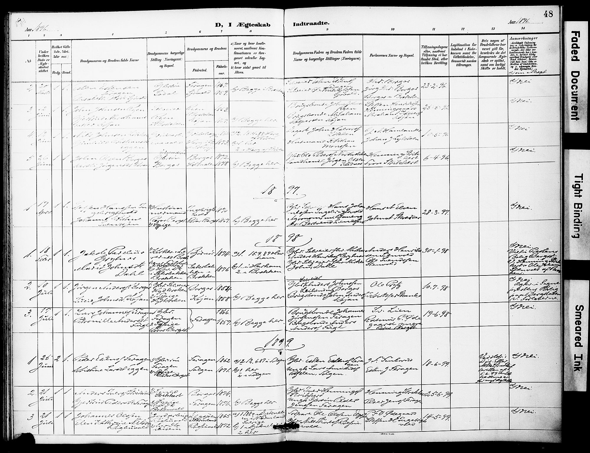 SAT, Ministerialprotokoller, klokkerbøker og fødselsregistre - Sør-Trøndelag, 683/L0948: Ministerialbok nr. 683A01, 1891-1902, s. 48