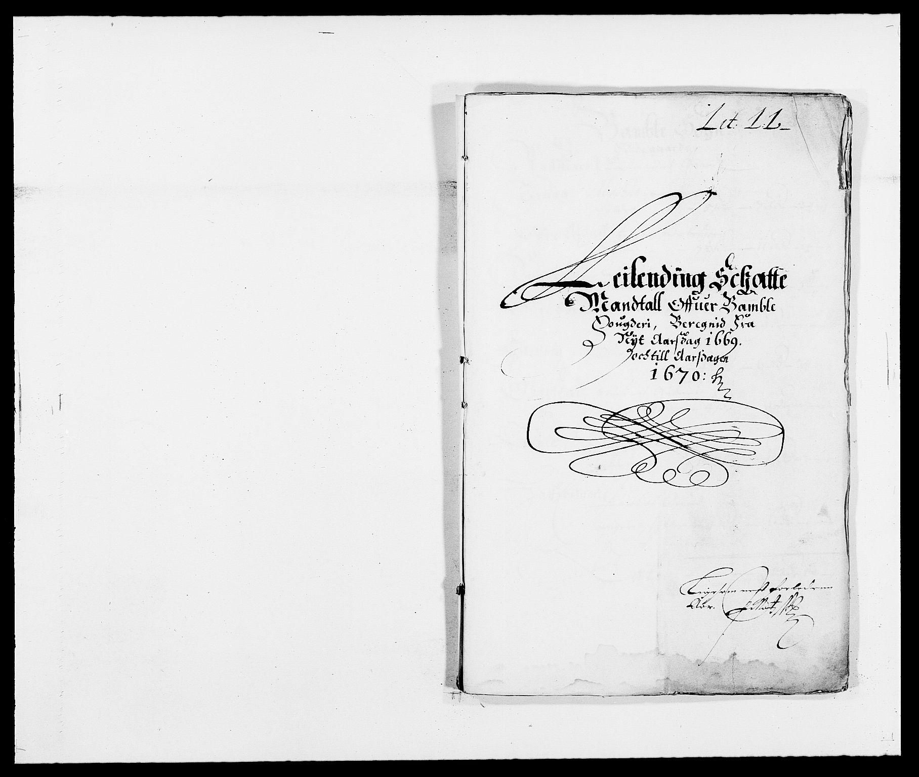 RA, Rentekammeret inntil 1814, Reviderte regnskaper, Fogderegnskap, R34/L2040: Fogderegnskap Bamble, 1662-1669, s. 132