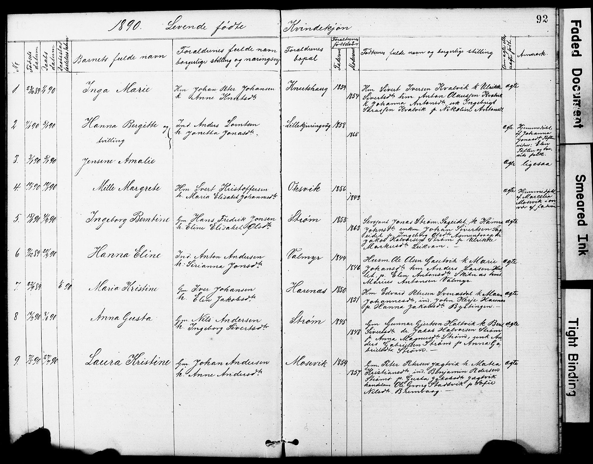 SAT, Ministerialprotokoller, klokkerbøker og fødselsregistre - Sør-Trøndelag, 634/L0541: Klokkerbok nr. 634C03, 1874-1891, s. 92