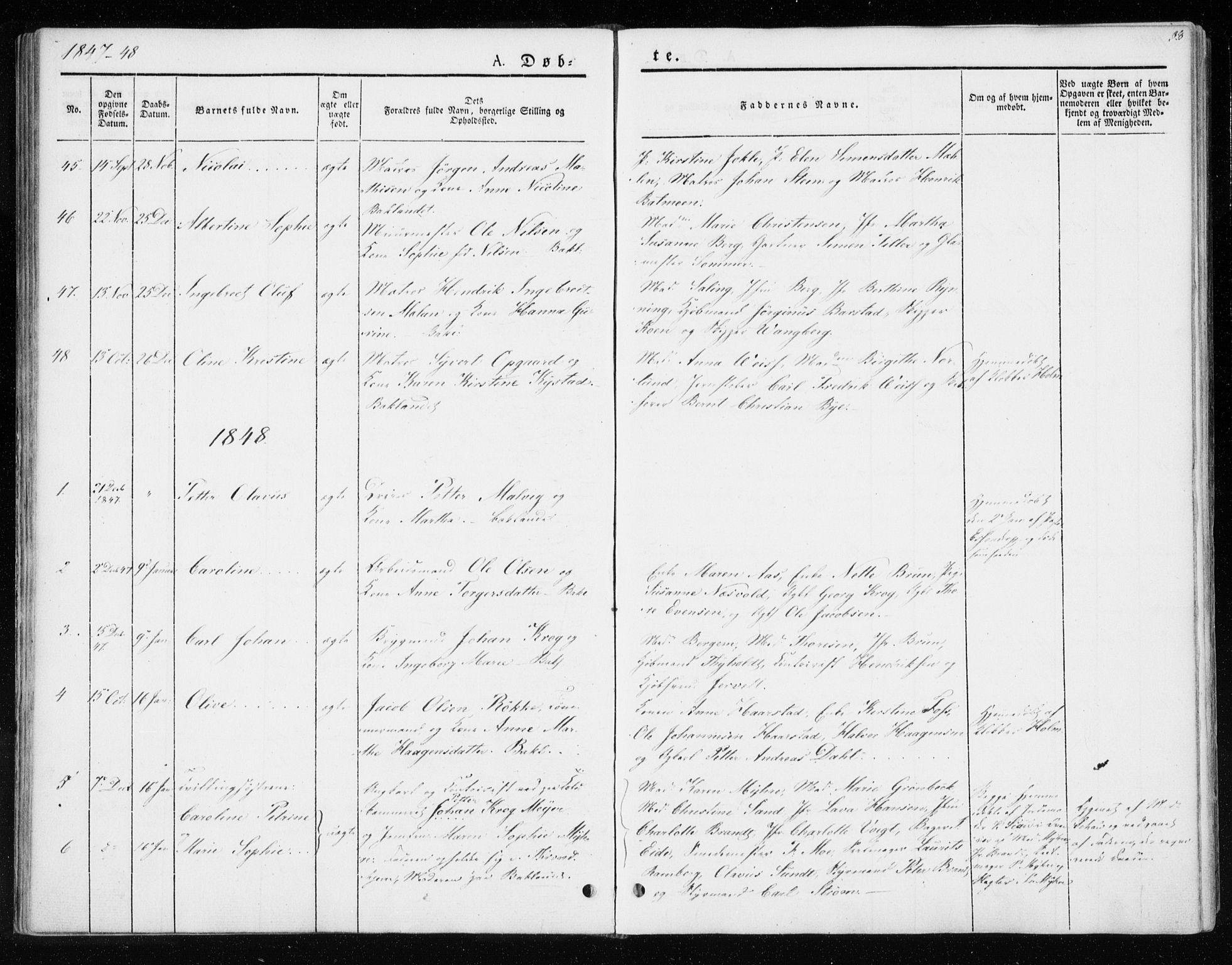 SAT, Ministerialprotokoller, klokkerbøker og fødselsregistre - Sør-Trøndelag, 604/L0183: Ministerialbok nr. 604A04, 1841-1850, s. 38