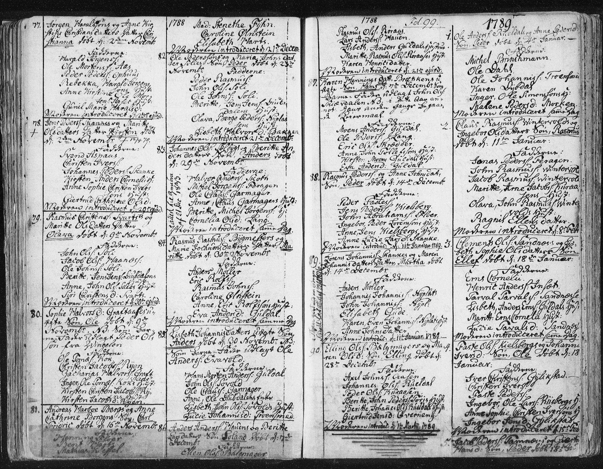 SAT, Ministerialprotokoller, klokkerbøker og fødselsregistre - Sør-Trøndelag, 681/L0926: Ministerialbok nr. 681A04, 1767-1797, s. 99
