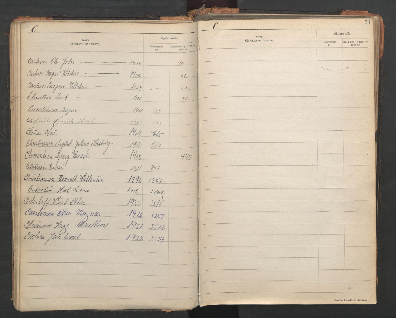 SAST, Stavanger sjømannskontor, F/Fb/Fba/L0005: Navneregister sjøfartsruller, etternavnsregister til hovedrulle 1921, 1921-1947, s. 19