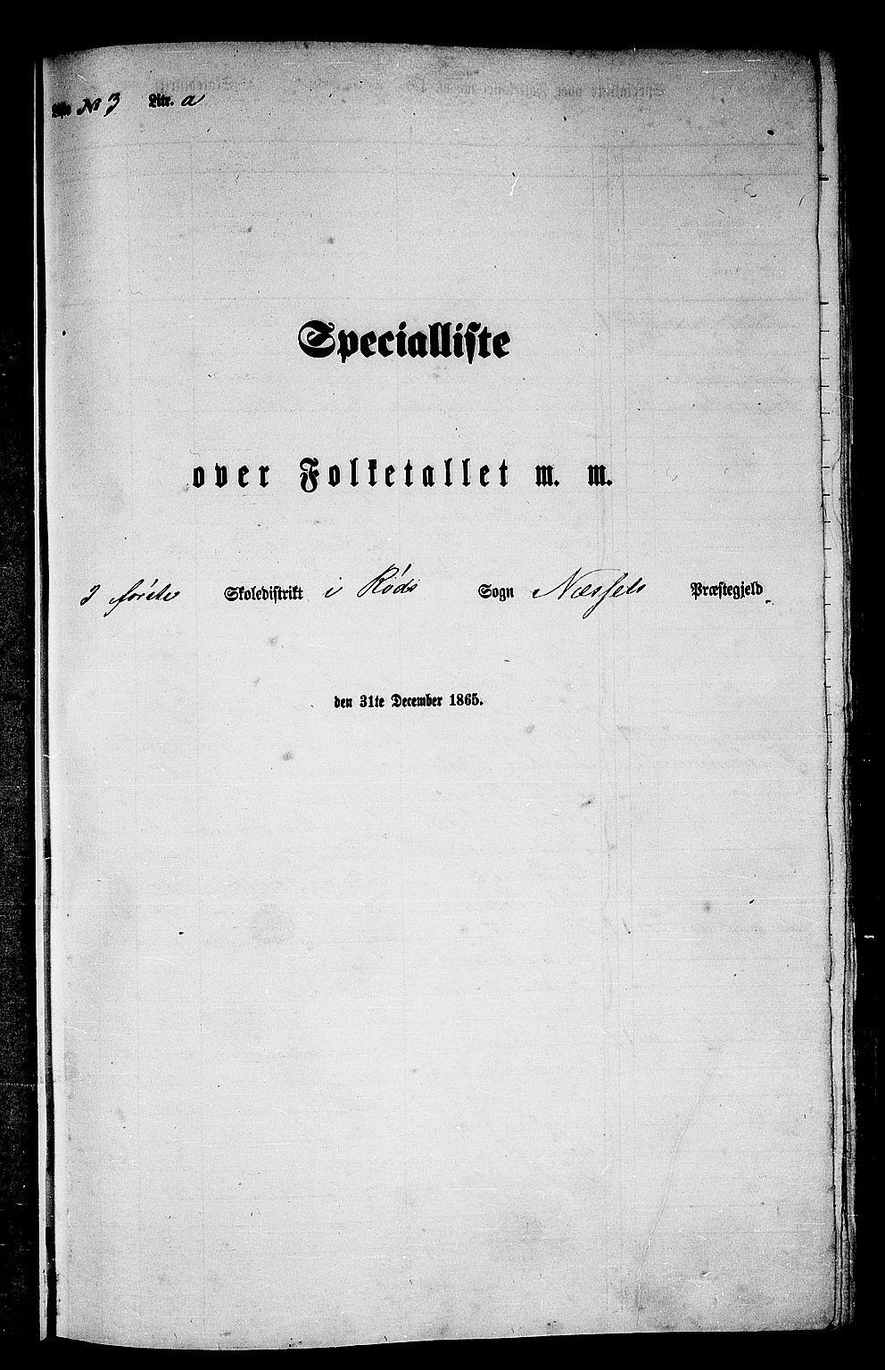 RA, Folketelling 1865 for 1543P Nesset prestegjeld, 1865, s. 52