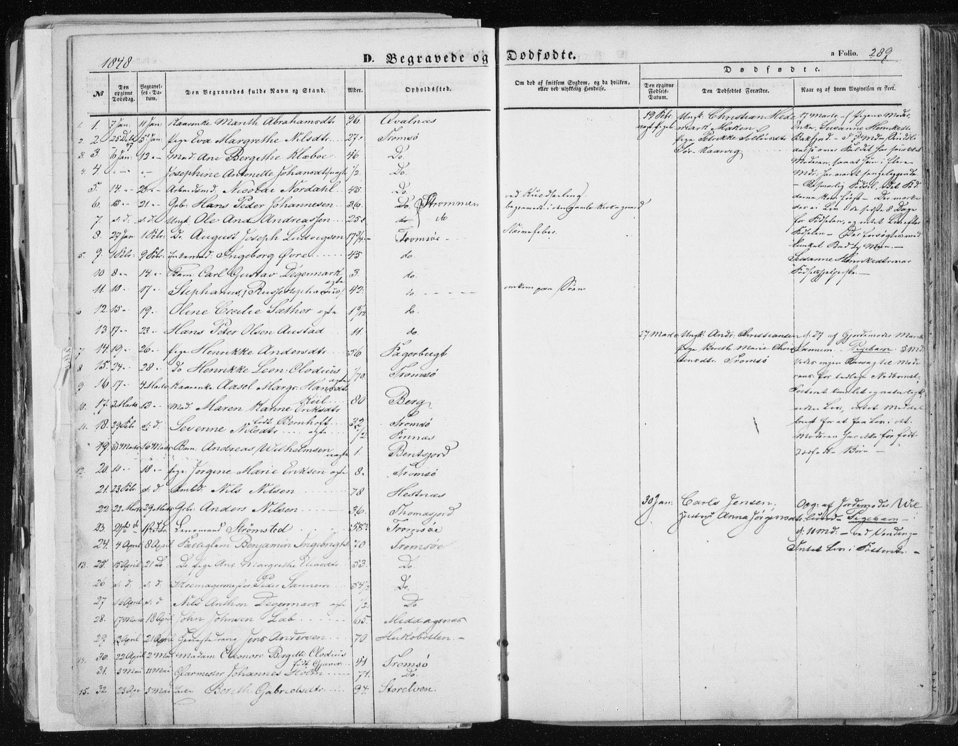 SATØ, Tromsø sokneprestkontor/stiftsprosti/domprosti, G/Ga/L0010kirke: Ministerialbok nr. 10, 1848-1855, s. 289
