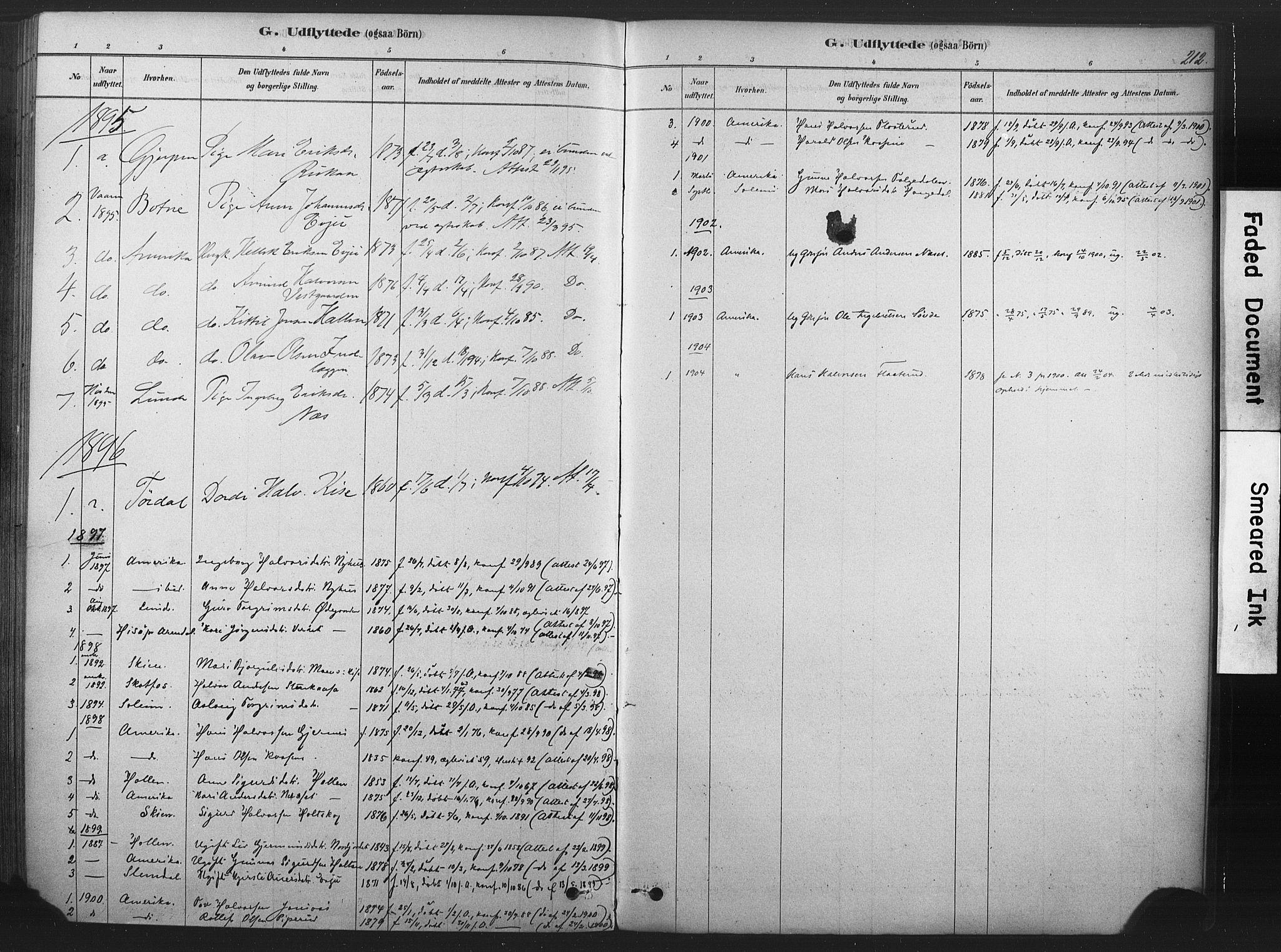 SAKO, Sauherad kirkebøker, F/Fb/L0002: Ministerialbok nr. II 2, 1878-1901, s. 212