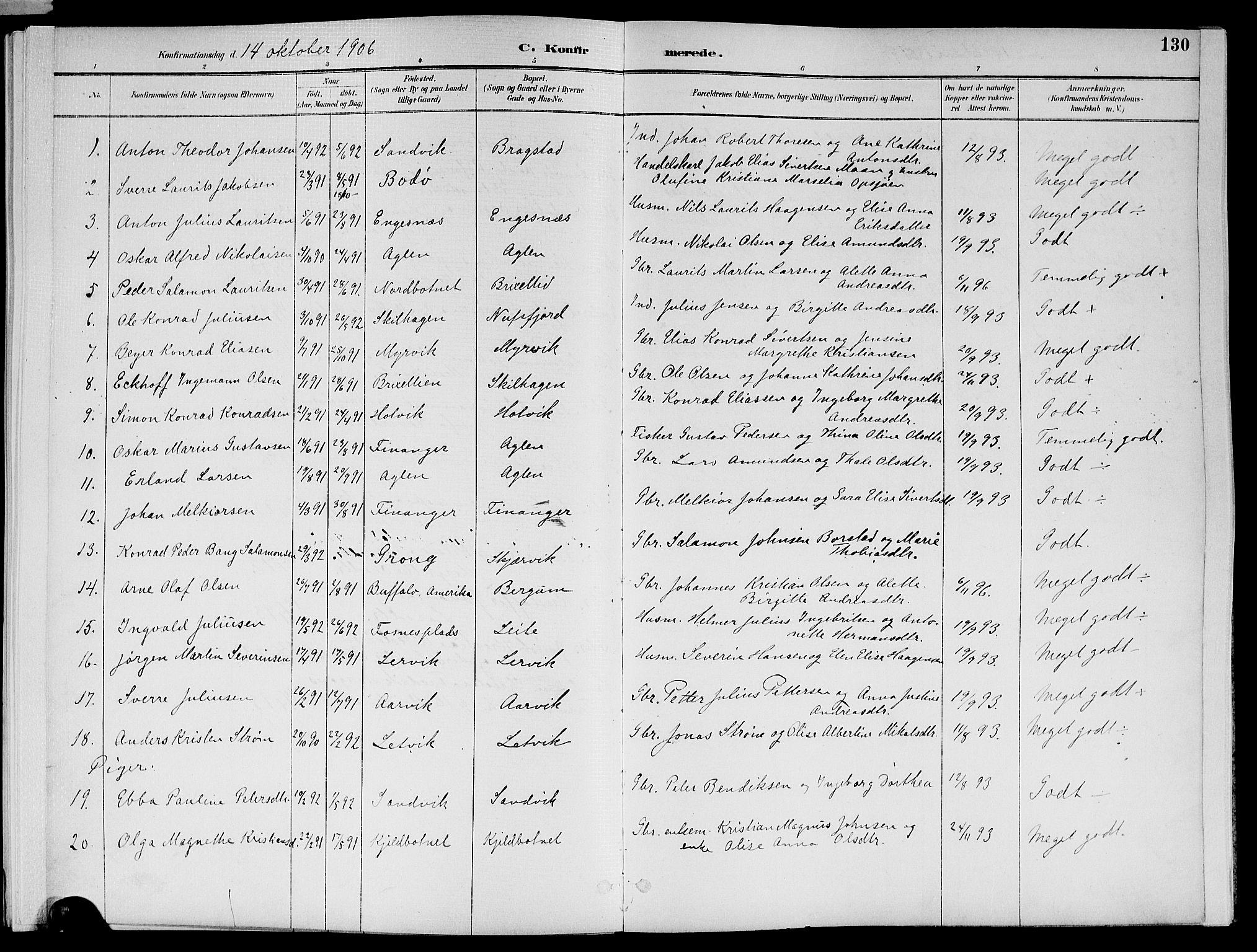 SAT, Ministerialprotokoller, klokkerbøker og fødselsregistre - Nord-Trøndelag, 773/L0617: Ministerialbok nr. 773A08, 1887-1910, s. 130