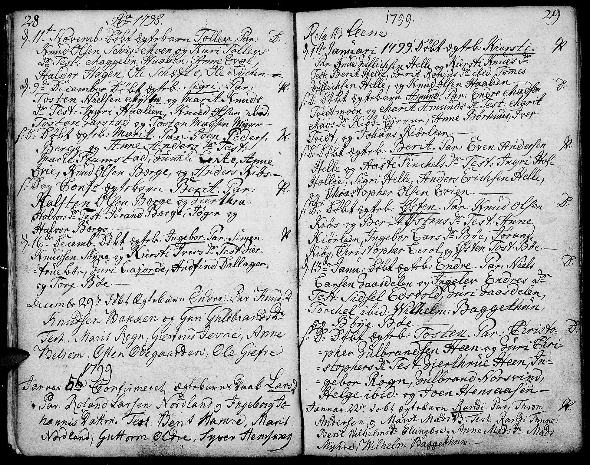 SAH, Vang prestekontor, Valdres, Ministerialbok nr. 2, 1796-1808, s. 28-29