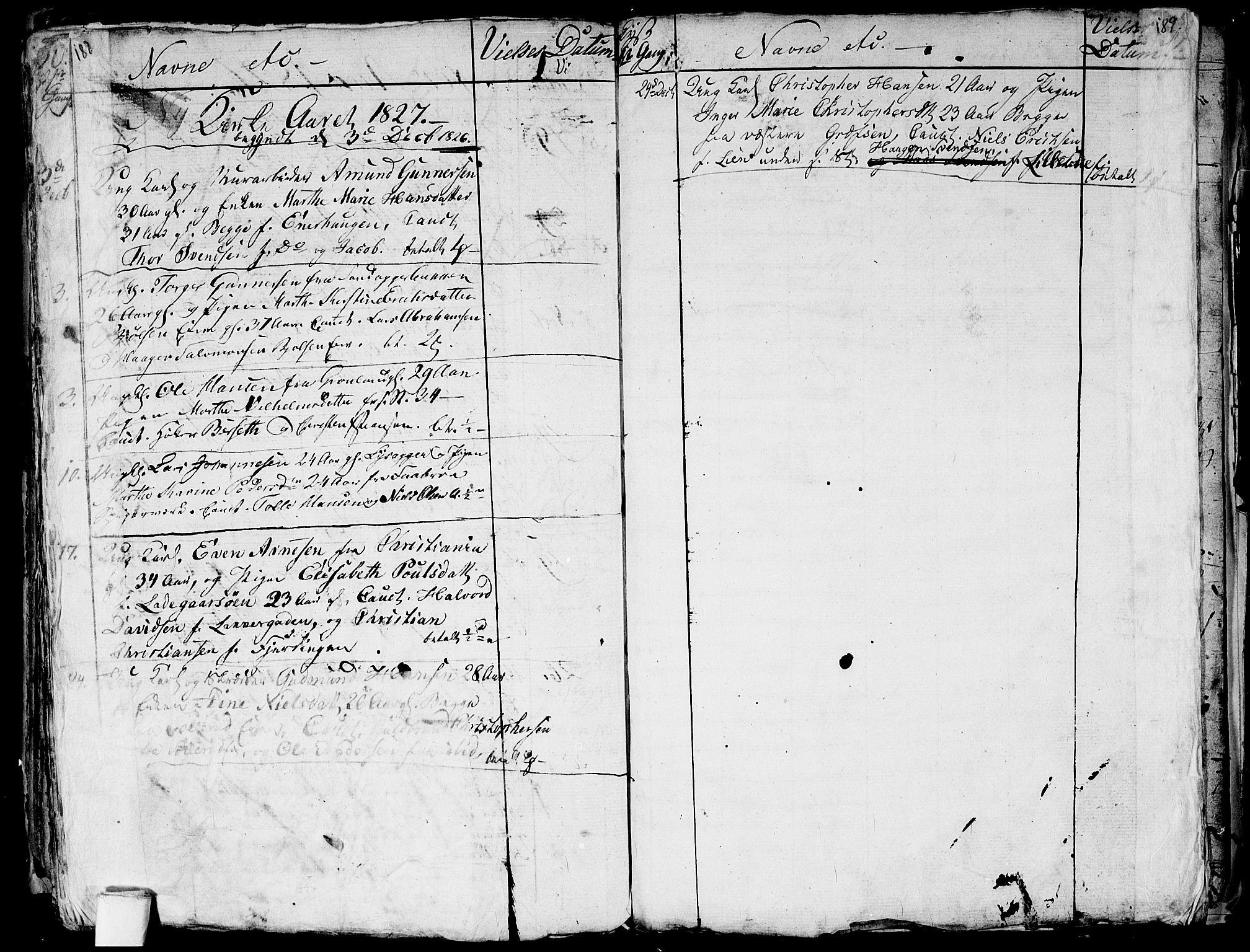 SAO, Aker prestekontor kirkebøker, G/L0001: Klokkerbok nr. 1, 1796-1826, s. 188-189
