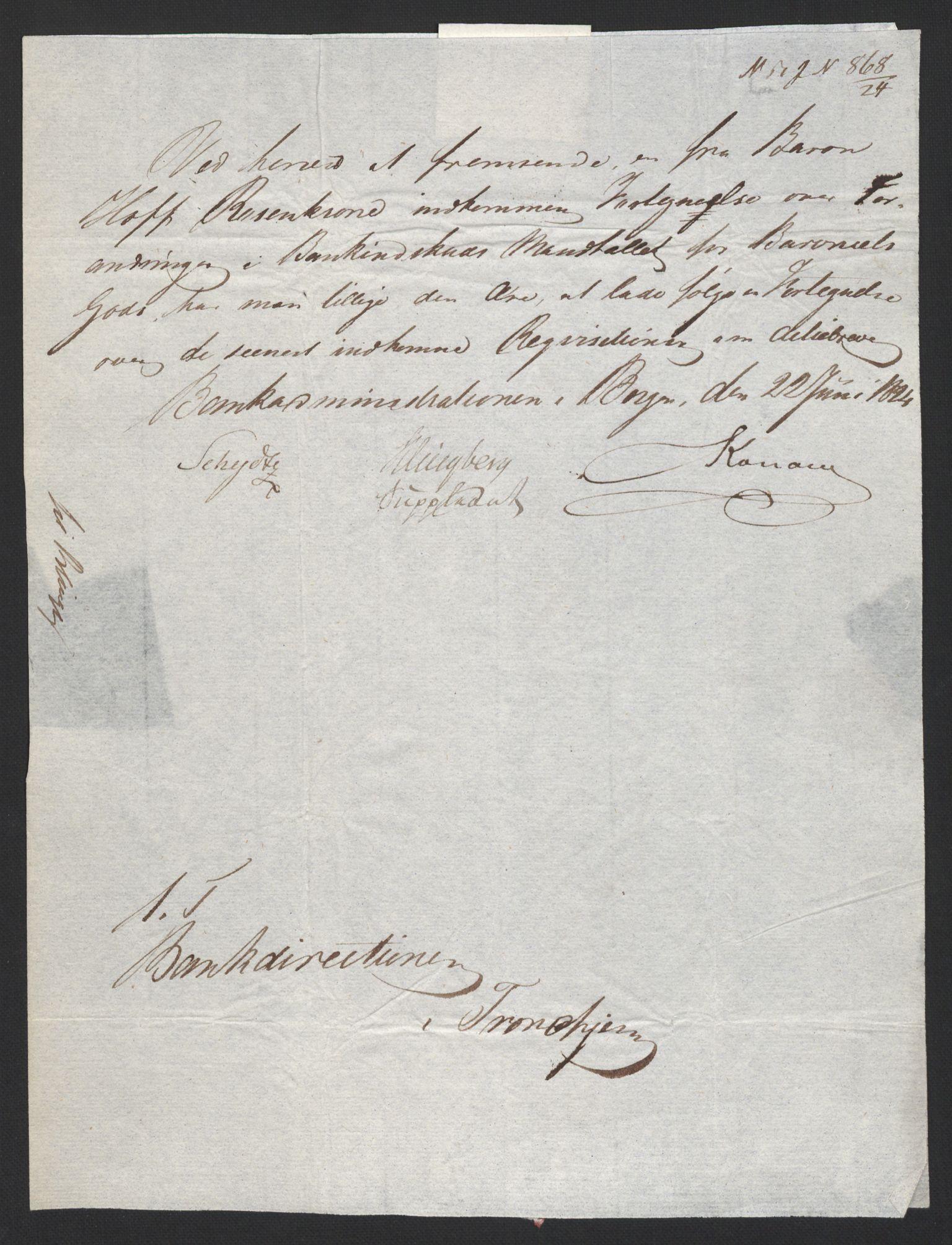 NOBA, Norges Bank/Sølvskatten 1816*, 1816-1825, s. 22