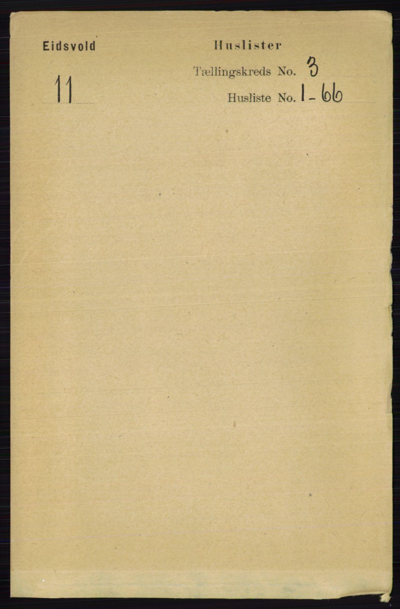RA, Folketelling 1891 for 0237 Eidsvoll herred, 1891, s. 1519