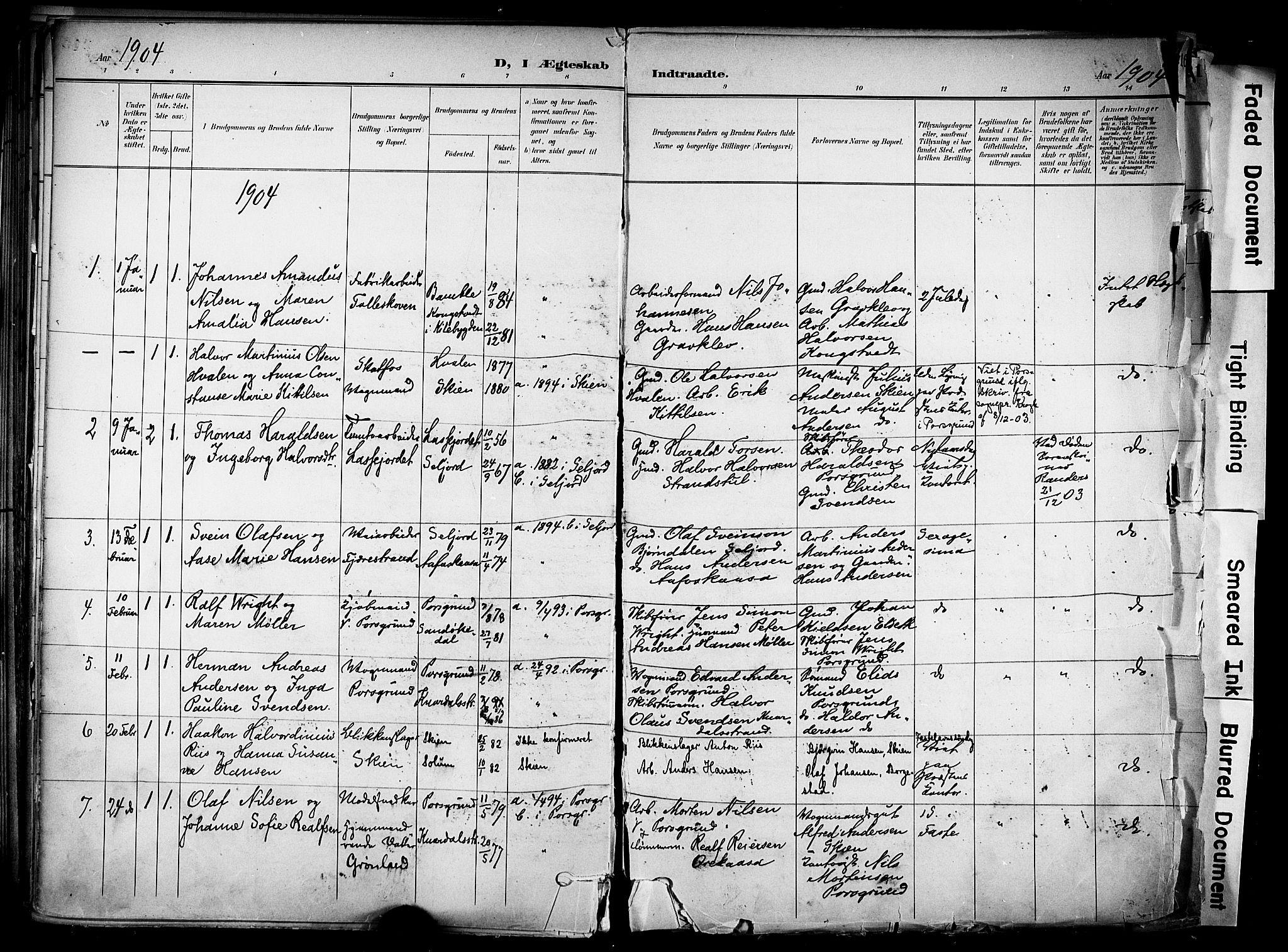 SAKO, Solum kirkebøker, F/Fa/L0011: Ministerialbok nr. I 11, 1898-1909, s. 216