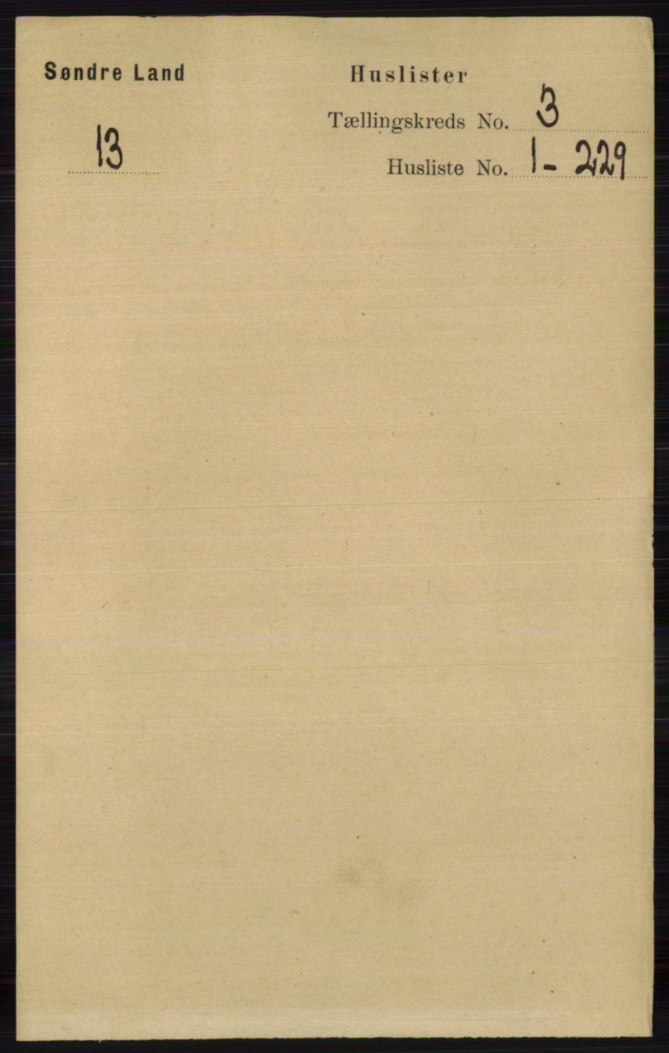 RA, Folketelling 1891 for 0536 Søndre Land herred, 1891, s. 2266