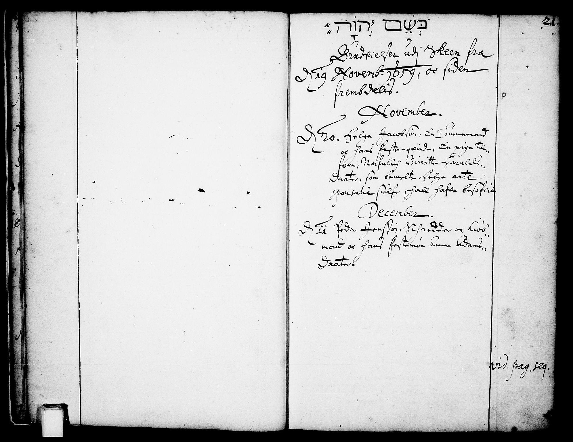 SAKO, Skien kirkebøker, F/Fa/L0001: Ministerialbok nr. 1, 1659-1679, s. 21