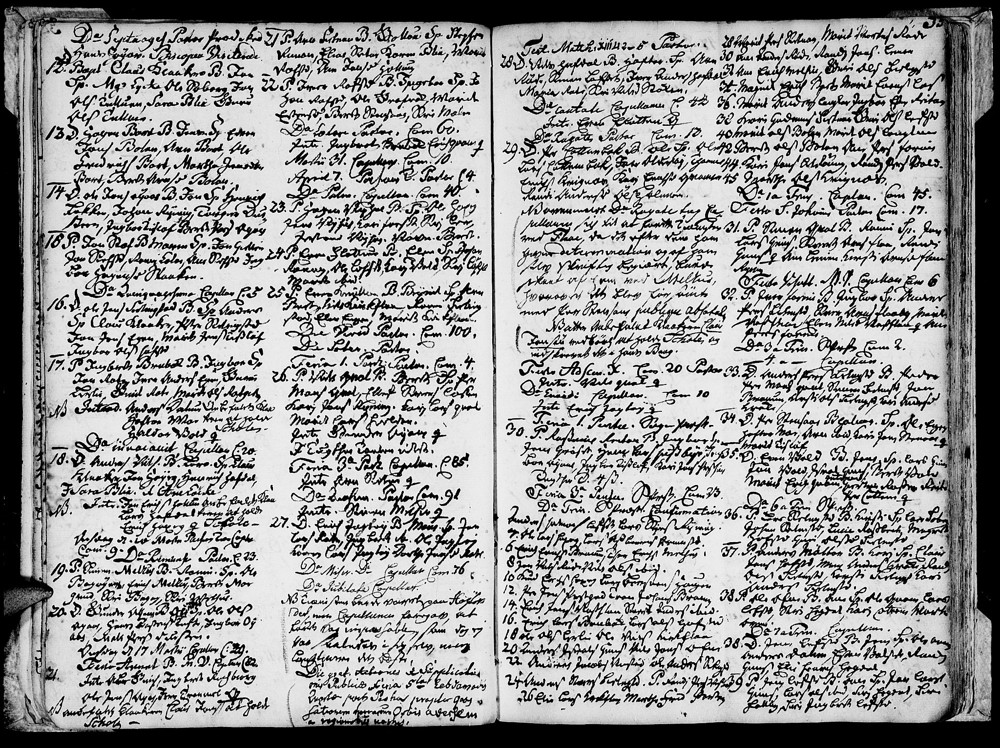 SAT, Ministerialprotokoller, klokkerbøker og fødselsregistre - Sør-Trøndelag, 691/L1057: Ministerialbok nr. 691A01 /1, 1740-1767, s. 33