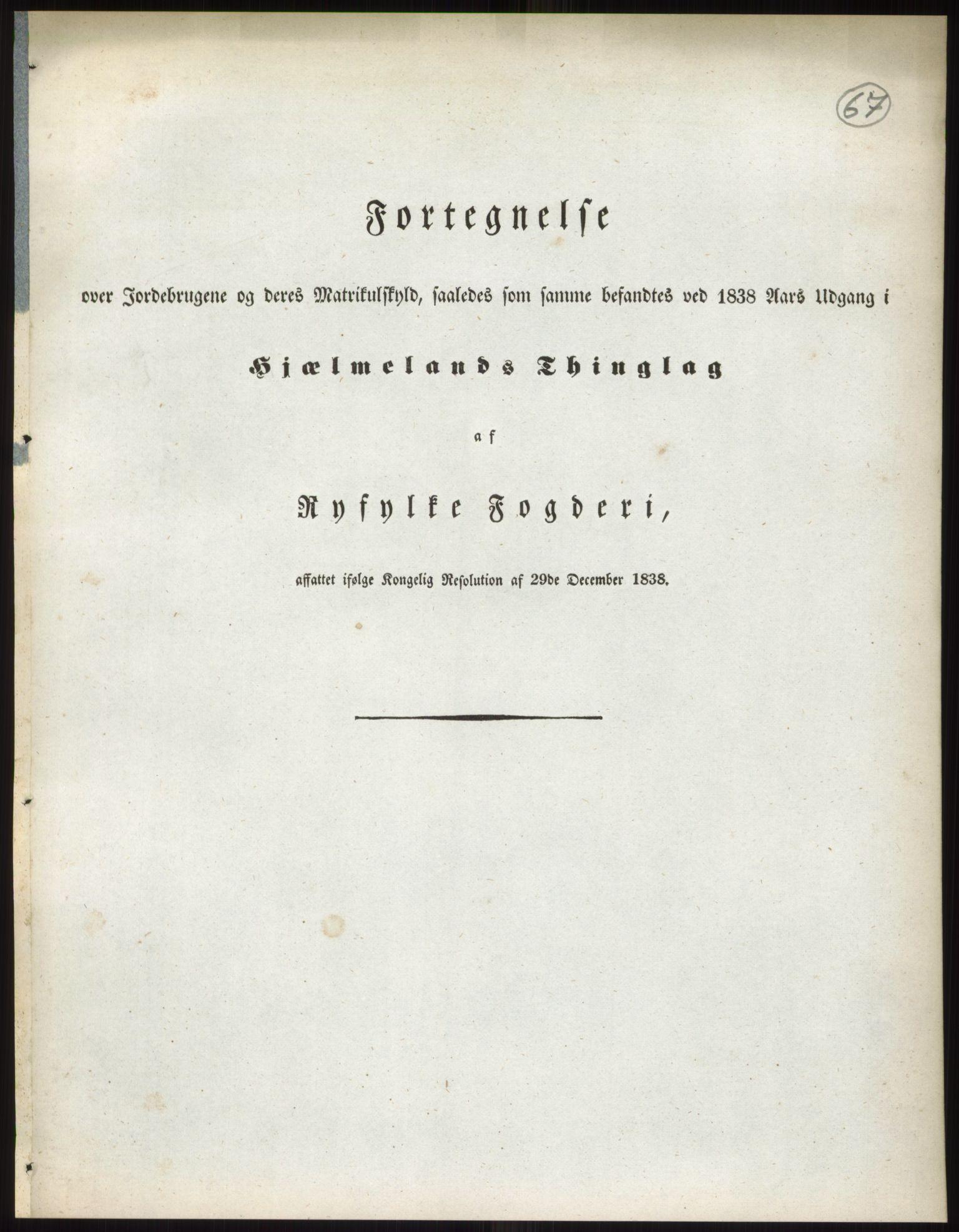 RA, 1838-matrikkelen (publikasjon)*, 1838, s. 67