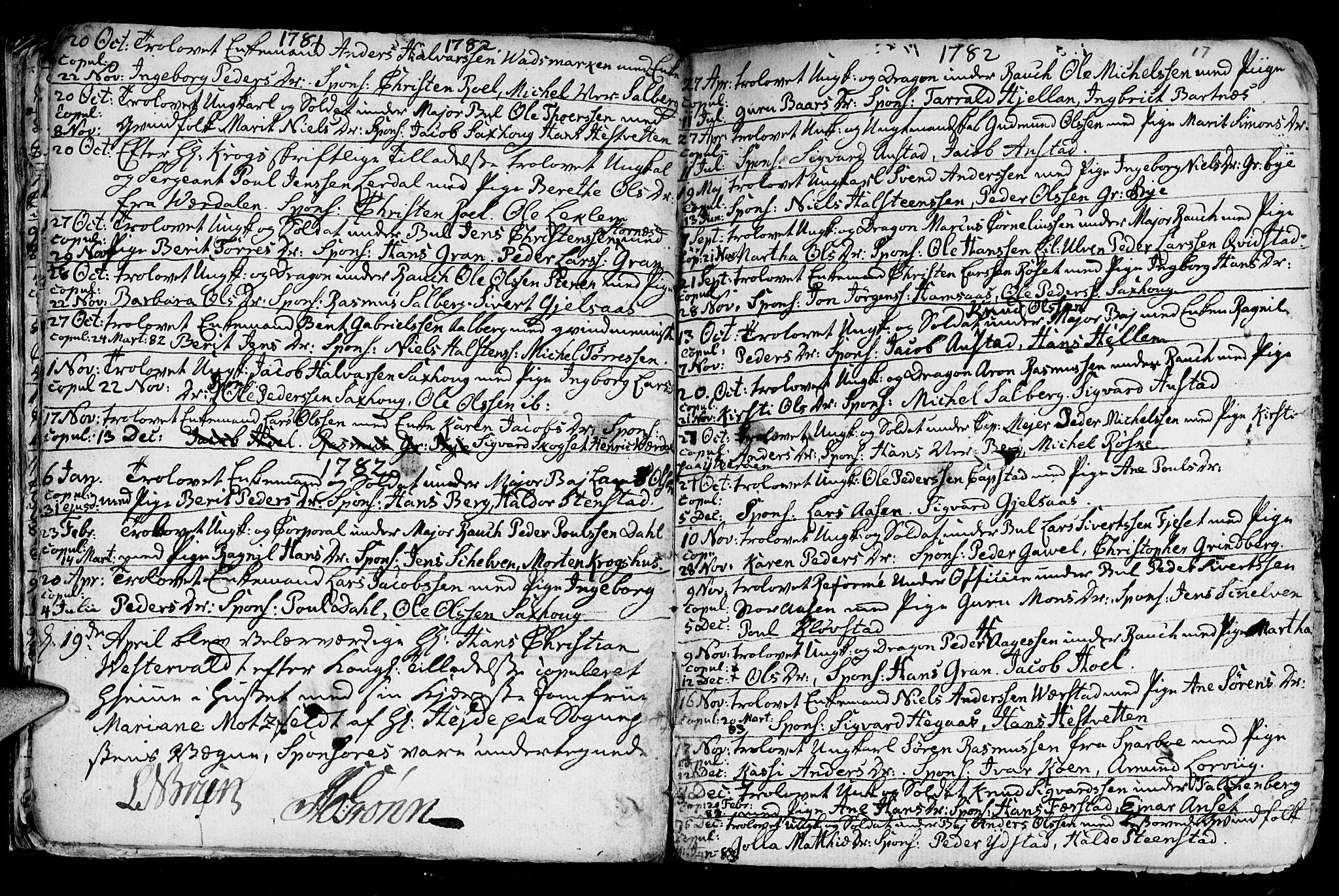 SAT, Ministerialprotokoller, klokkerbøker og fødselsregistre - Nord-Trøndelag, 730/L0273: Ministerialbok nr. 730A02, 1762-1802, s. 17