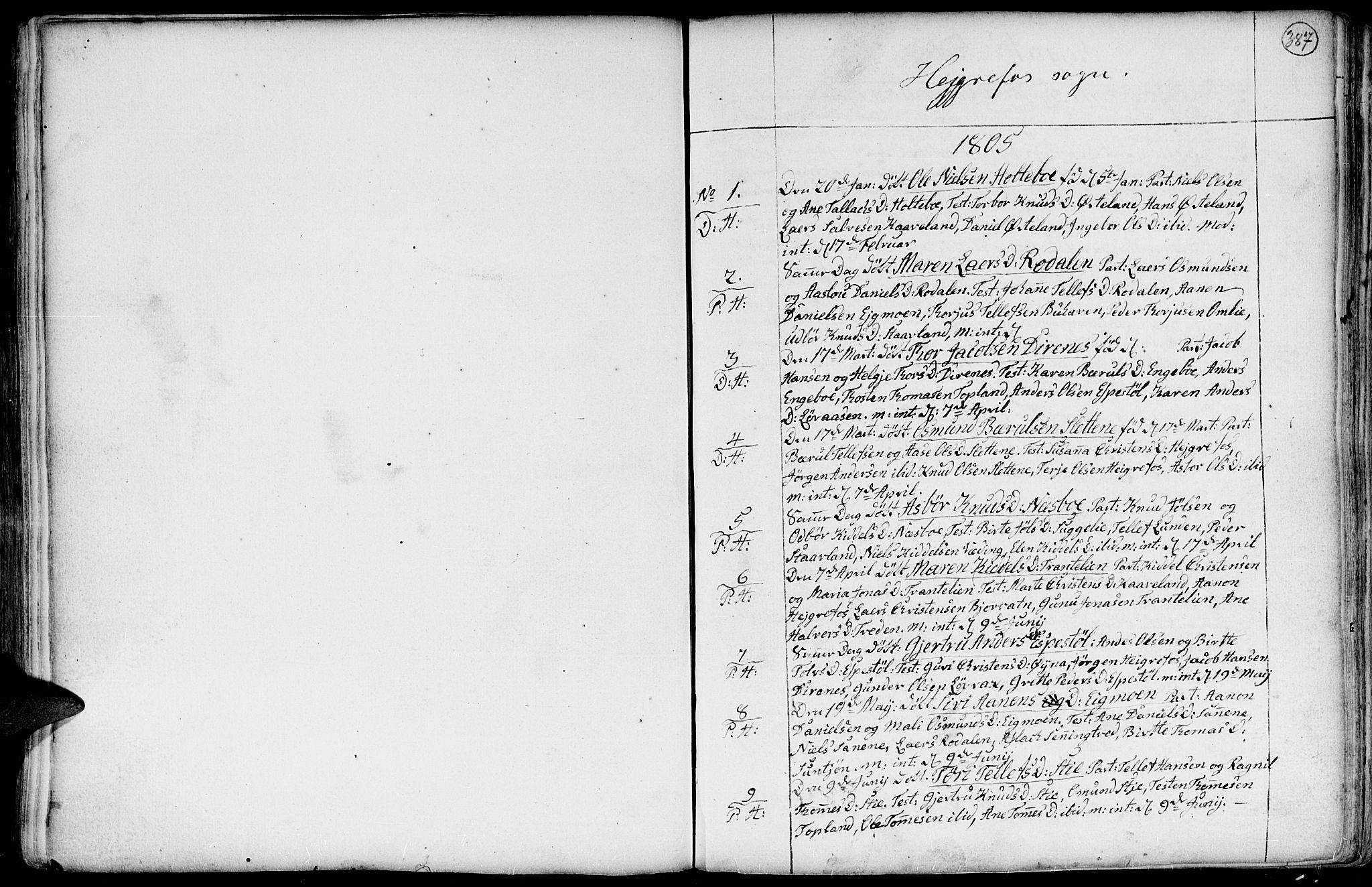 SAK, Hommedal sokneprestkontor, F/Fa/Fab/L0002: Ministerialbok nr. A 2 /3, 1740-1821, s. 387