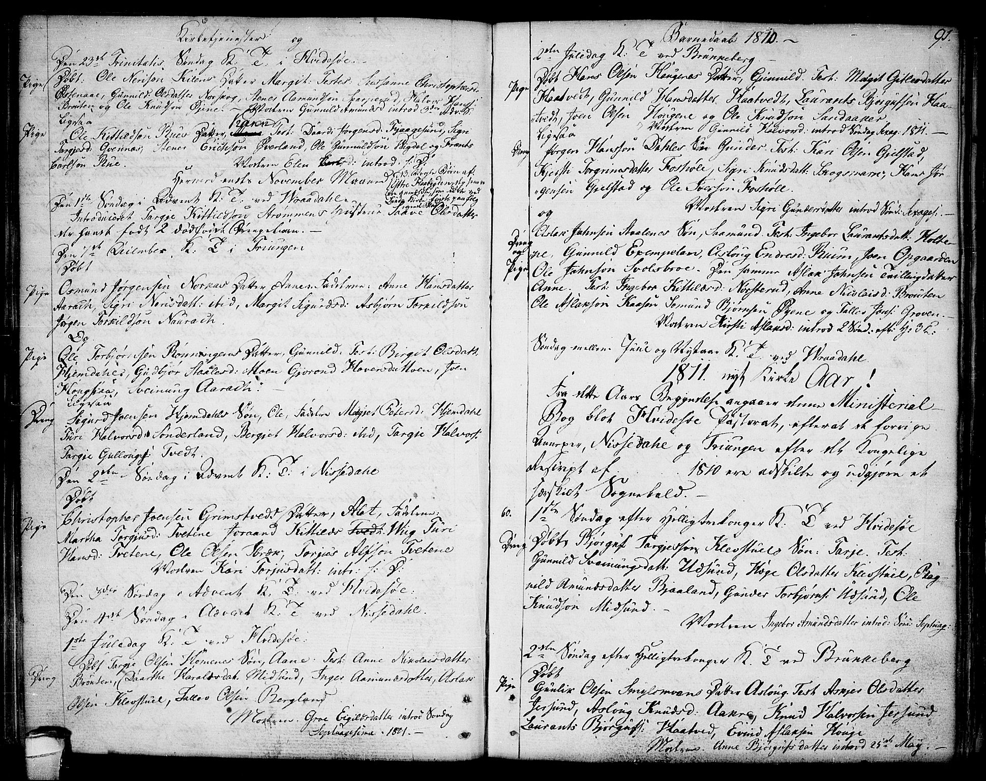 SAKO, Kviteseid kirkebøker, F/Fa/L0004: Ministerialbok nr. I 4, 1800-1814, s. 91