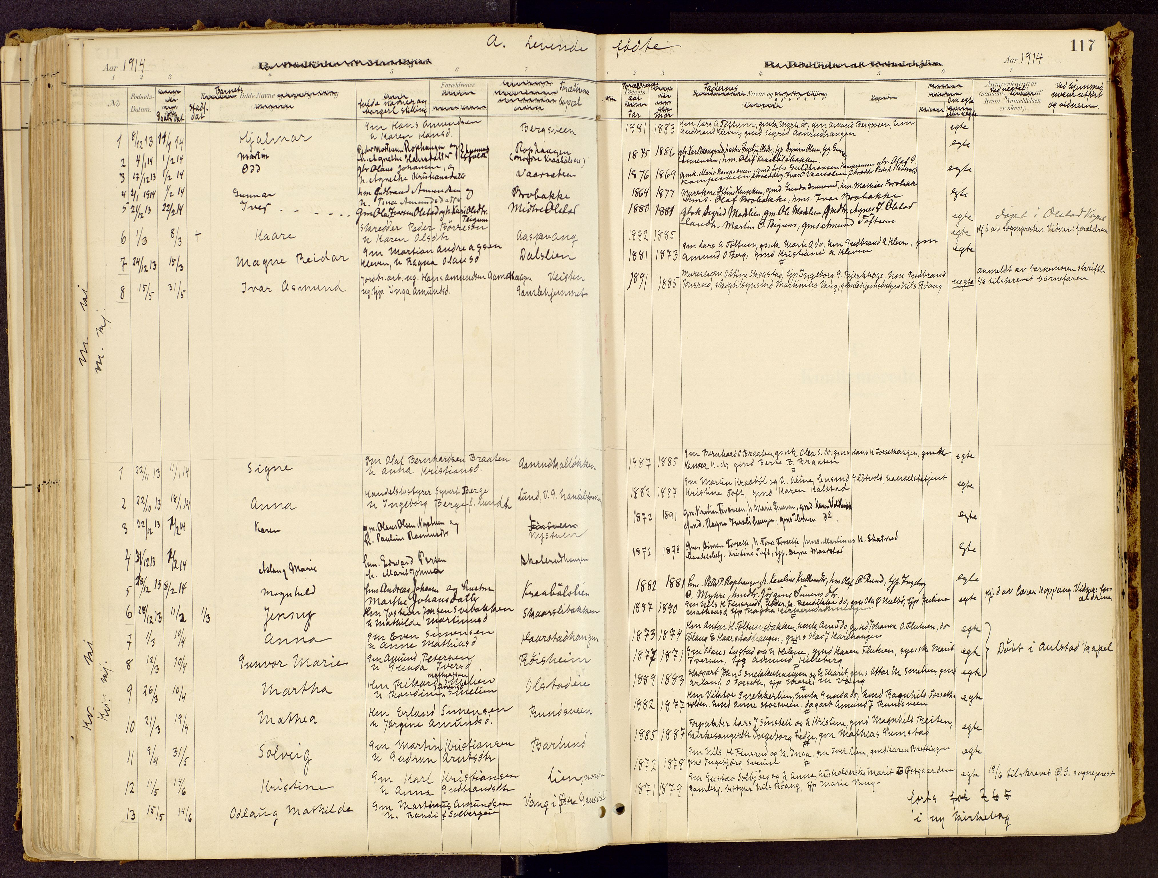 SAH, Vestre Gausdal prestekontor, Ministerialbok nr. 1, 1887-1914, s. 117