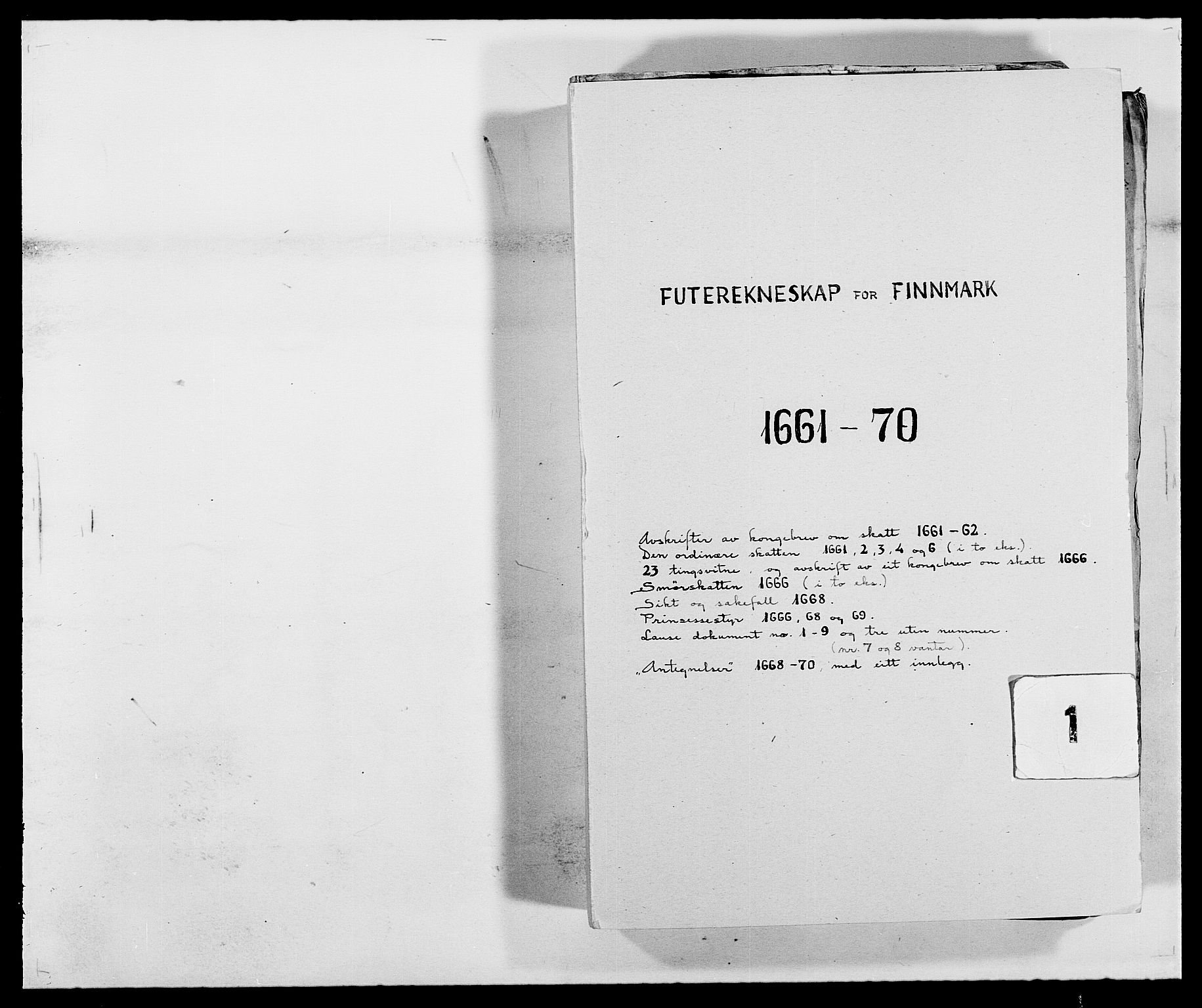 RA, Rentekammeret inntil 1814, Reviderte regnskaper, Fogderegnskap, R69/L4849: Fogderegnskap Finnmark/Vardøhus, 1661-1679, s. 1