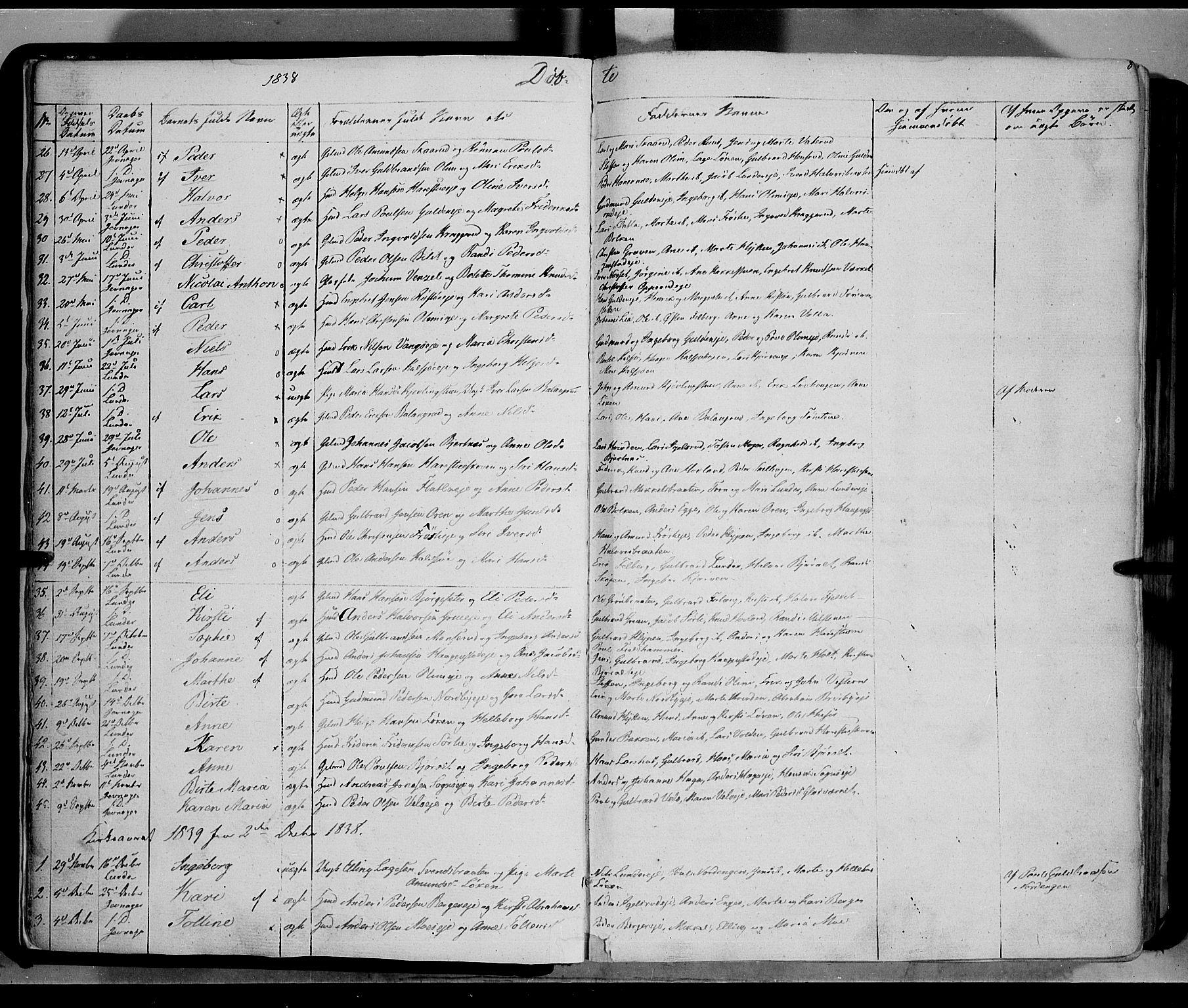 SAH, Jevnaker prestekontor, Ministerialbok nr. 6, 1837-1857, s. 8