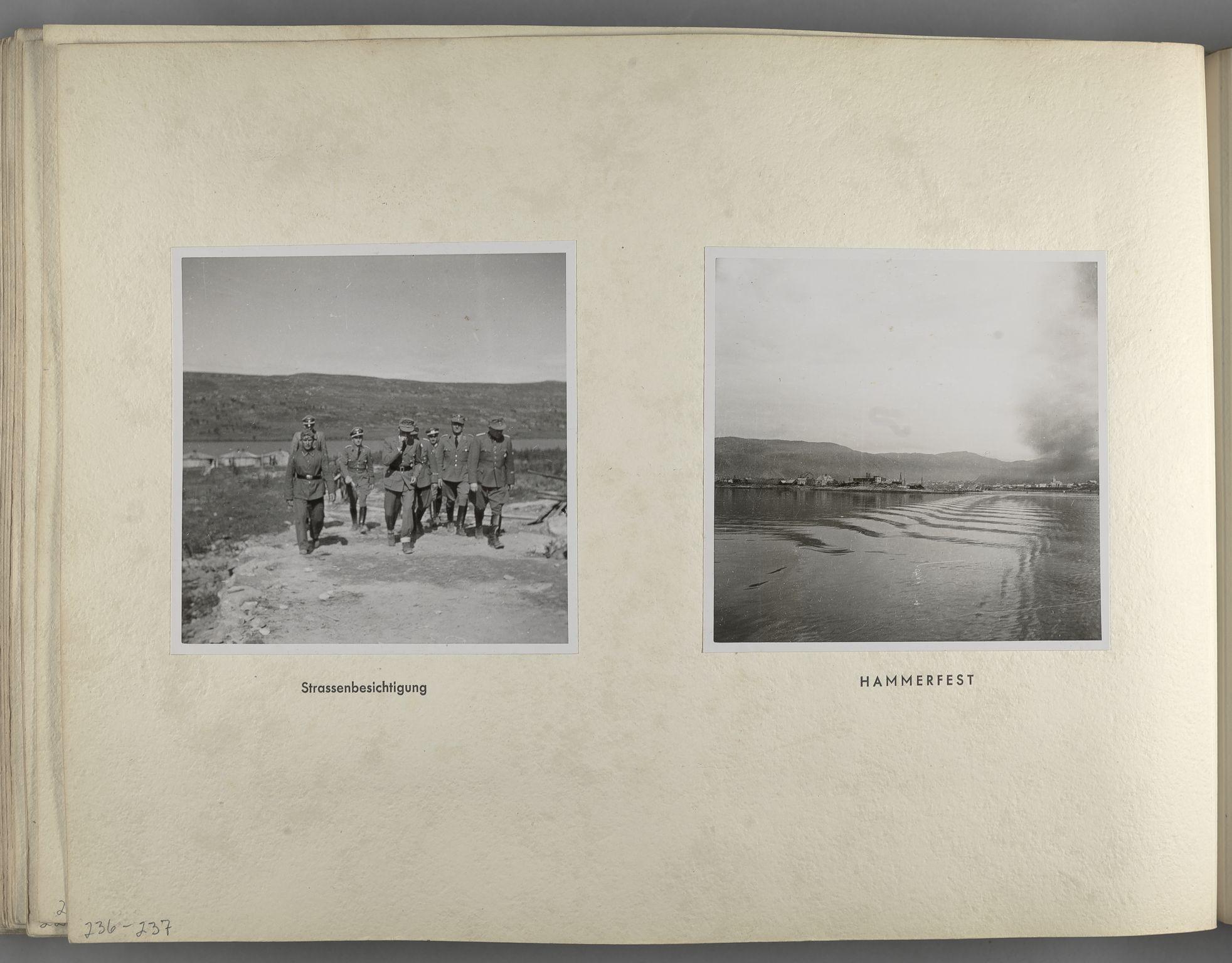 RA, Tyske arkiver, Reichskommissariat, Bildarchiv, U/L0071: Fotoalbum: Mit dem Reichskommissar nach Nordnorwegen und Finnland 10. bis 27. Juli 1942, 1942, s. 96
