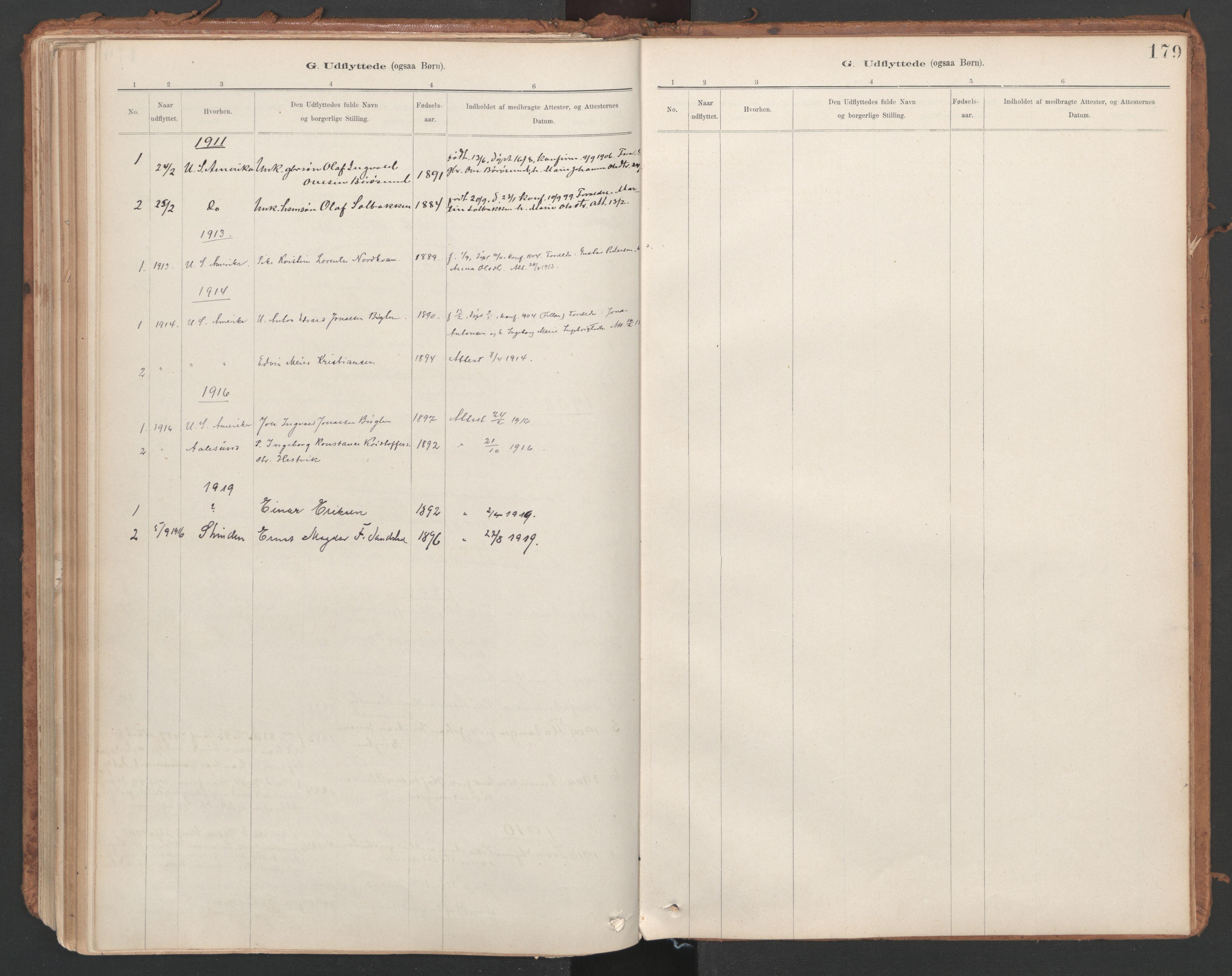 SAT, Ministerialprotokoller, klokkerbøker og fødselsregistre - Sør-Trøndelag, 639/L0572: Ministerialbok nr. 639A01, 1890-1920, s. 179